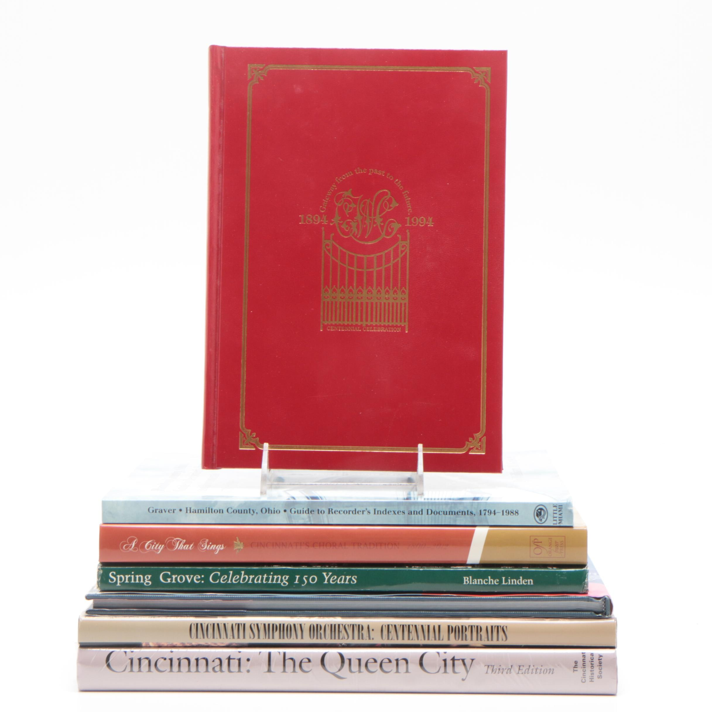 """Signed """"Cincinnati, City of Seven Hills and Five Inclines"""" and Other Books"""