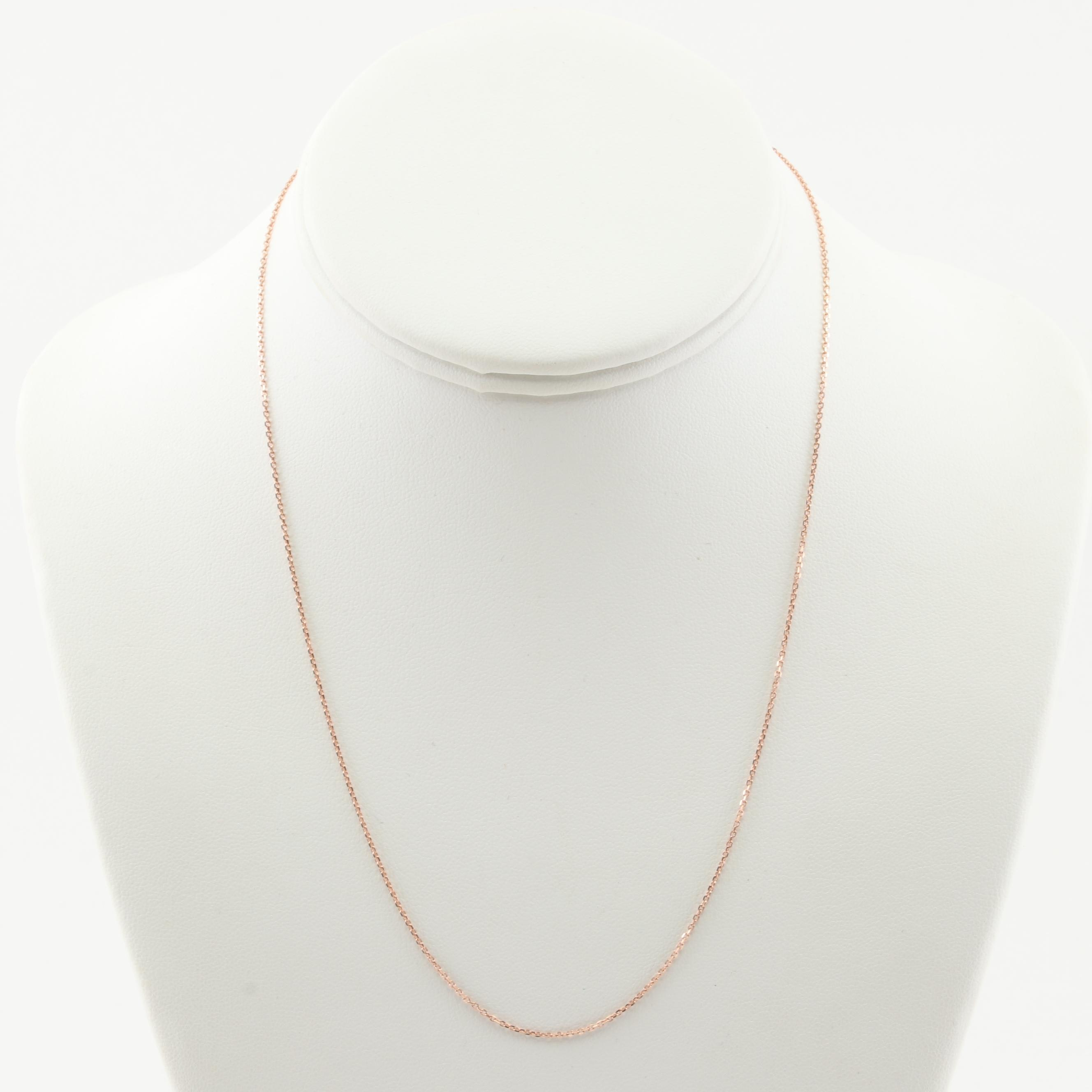 10K Rose Gold Chain Necklace