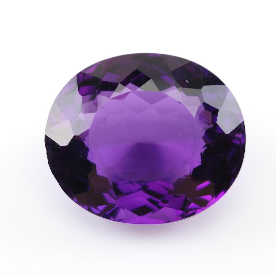 Loose 26.60 CT Amethyst Gemstone