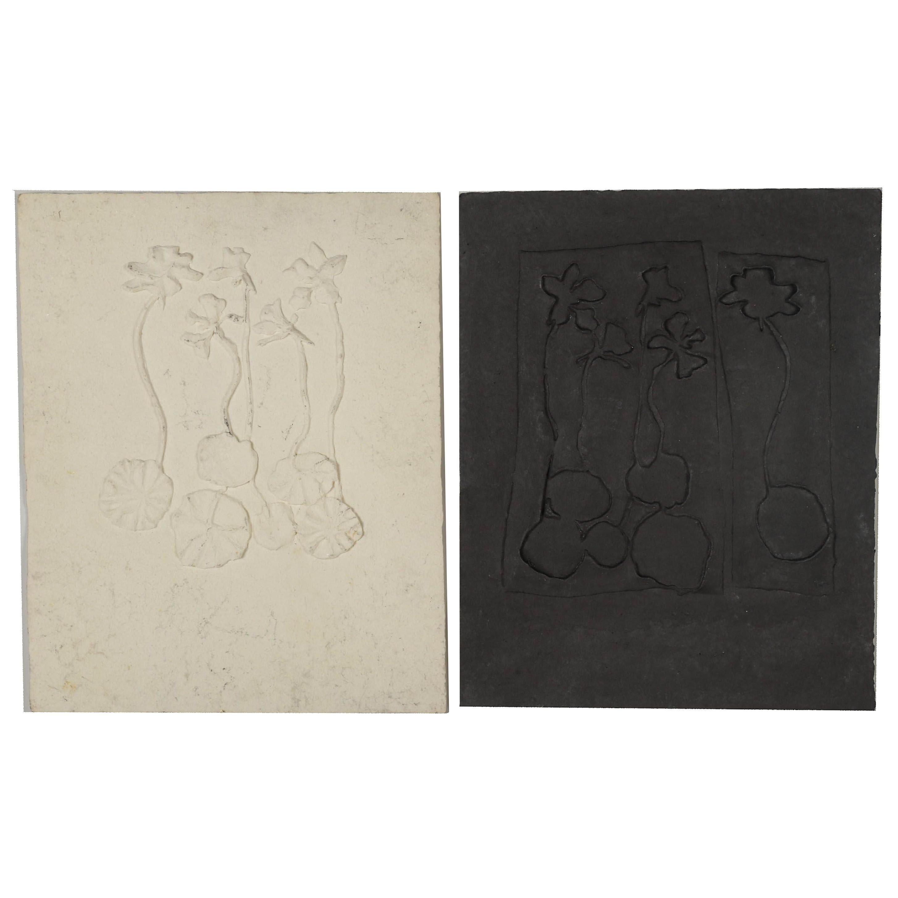 John Tuska Cast Paper Reliefs