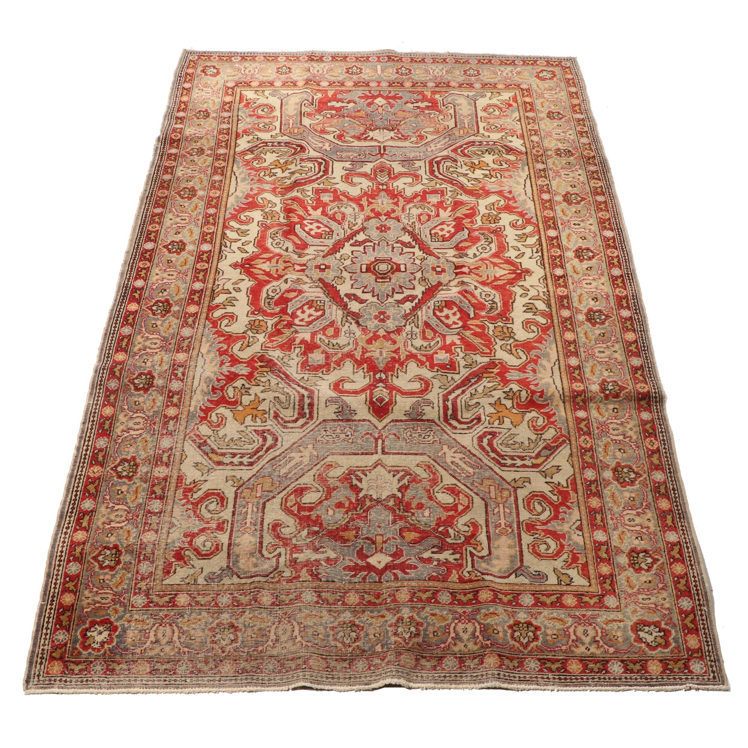 Hand-Knotted Turkish Isparta Wool Rug