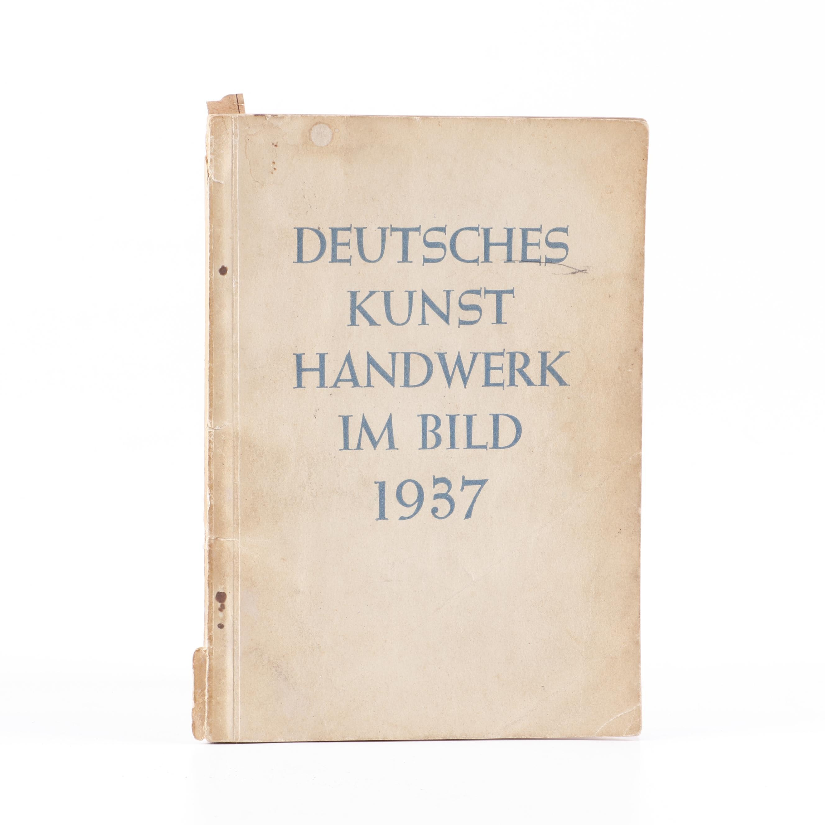 """1937 German """"Deutsches Kunsthandwerk im Bild"""""""