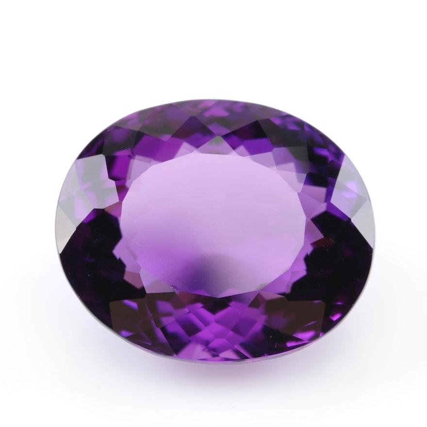 Loose Amethyst 36.31 CT Amethyst Gemstone
