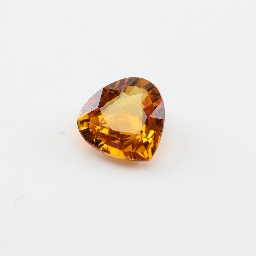 Loose 1.02 CT Sapphire Gemstone