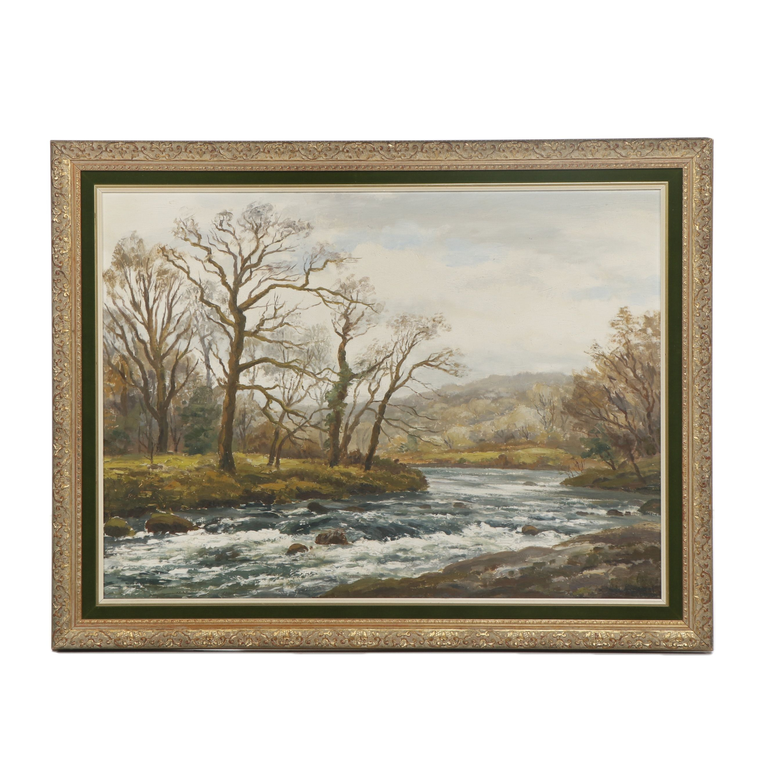 """Robert Egginton Oil Painting """"The River Dart at Spitchwick"""""""