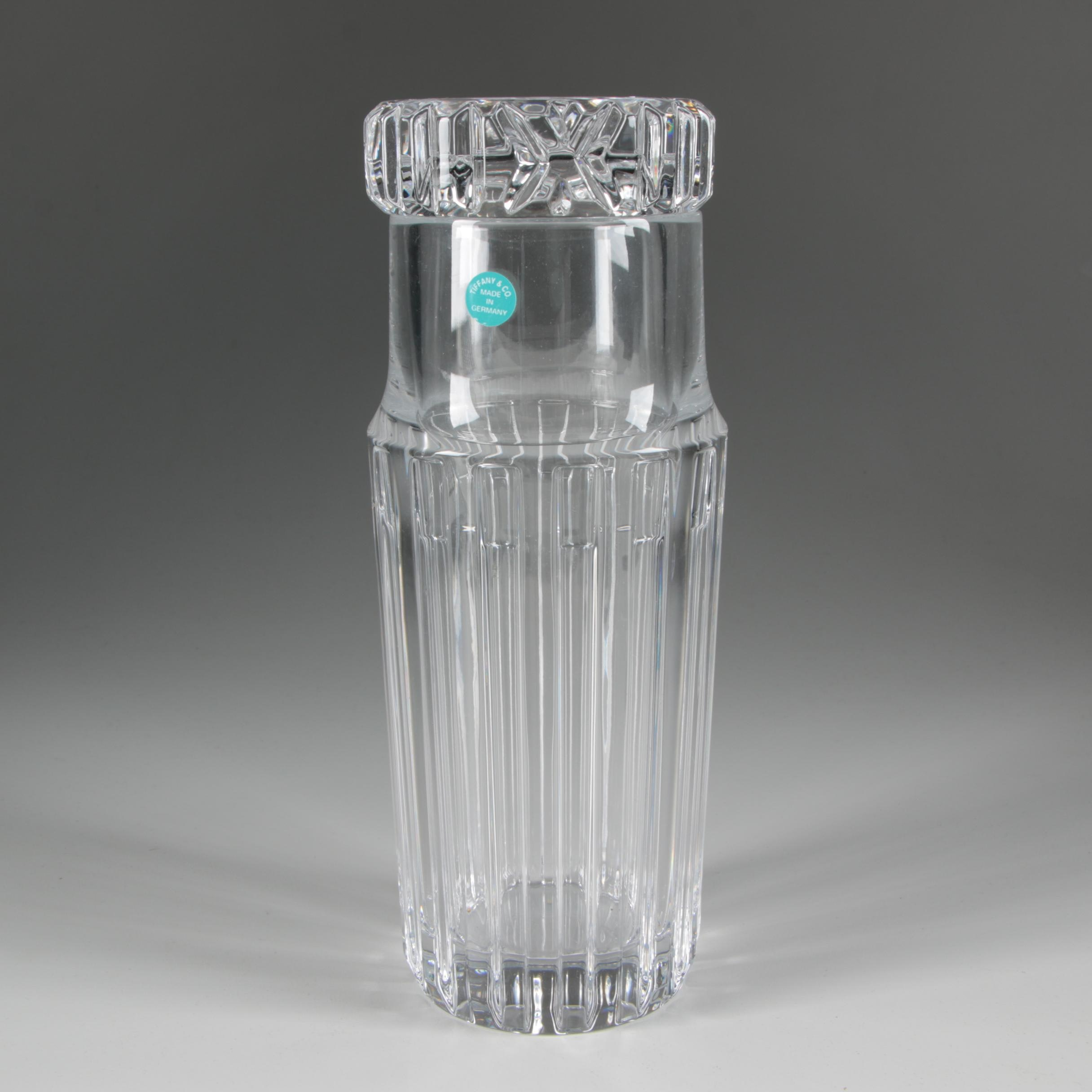 Tiffany & Co. Crystal Cocktail Shaker