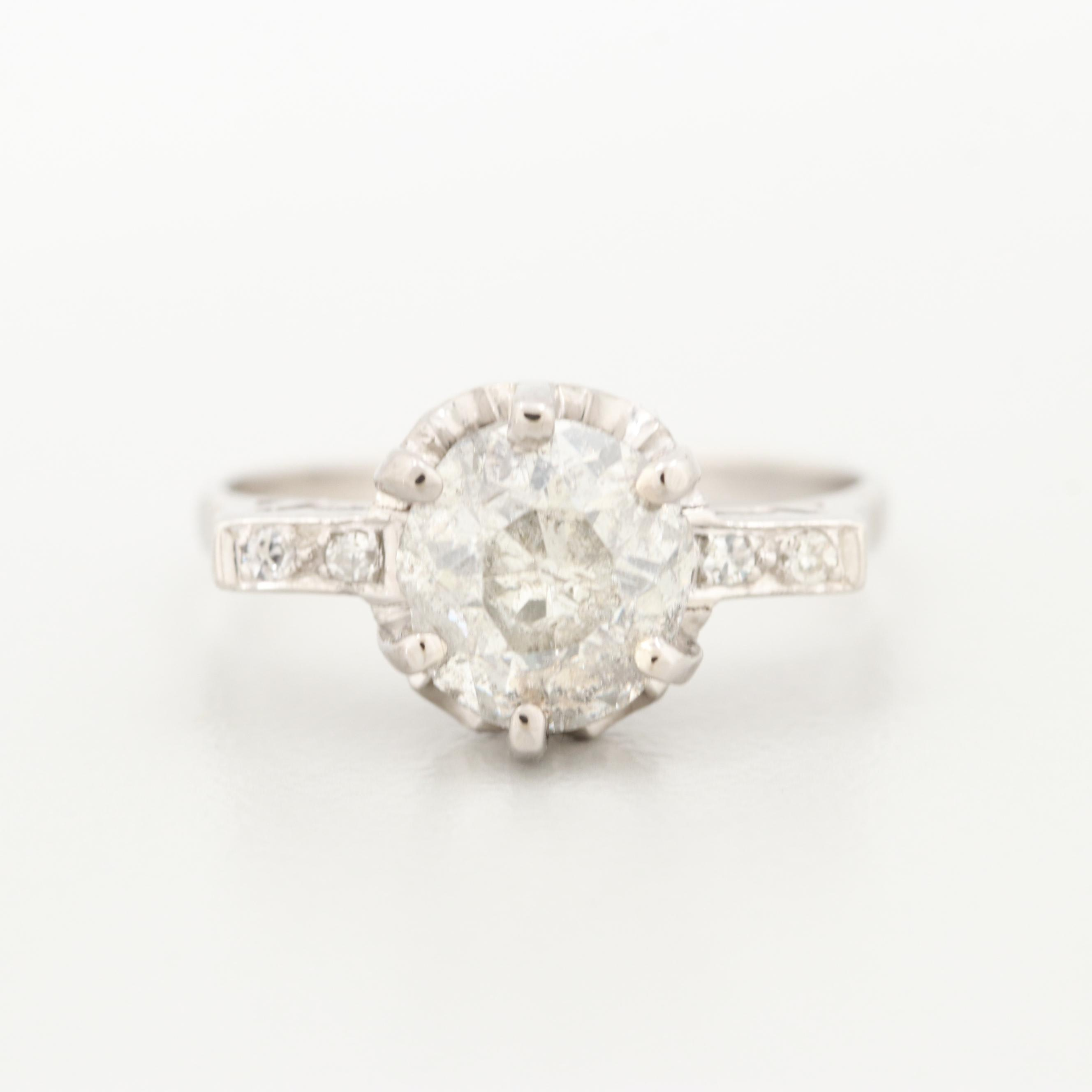 Art Deco Platinum 2.06 CTW Diamond Ring