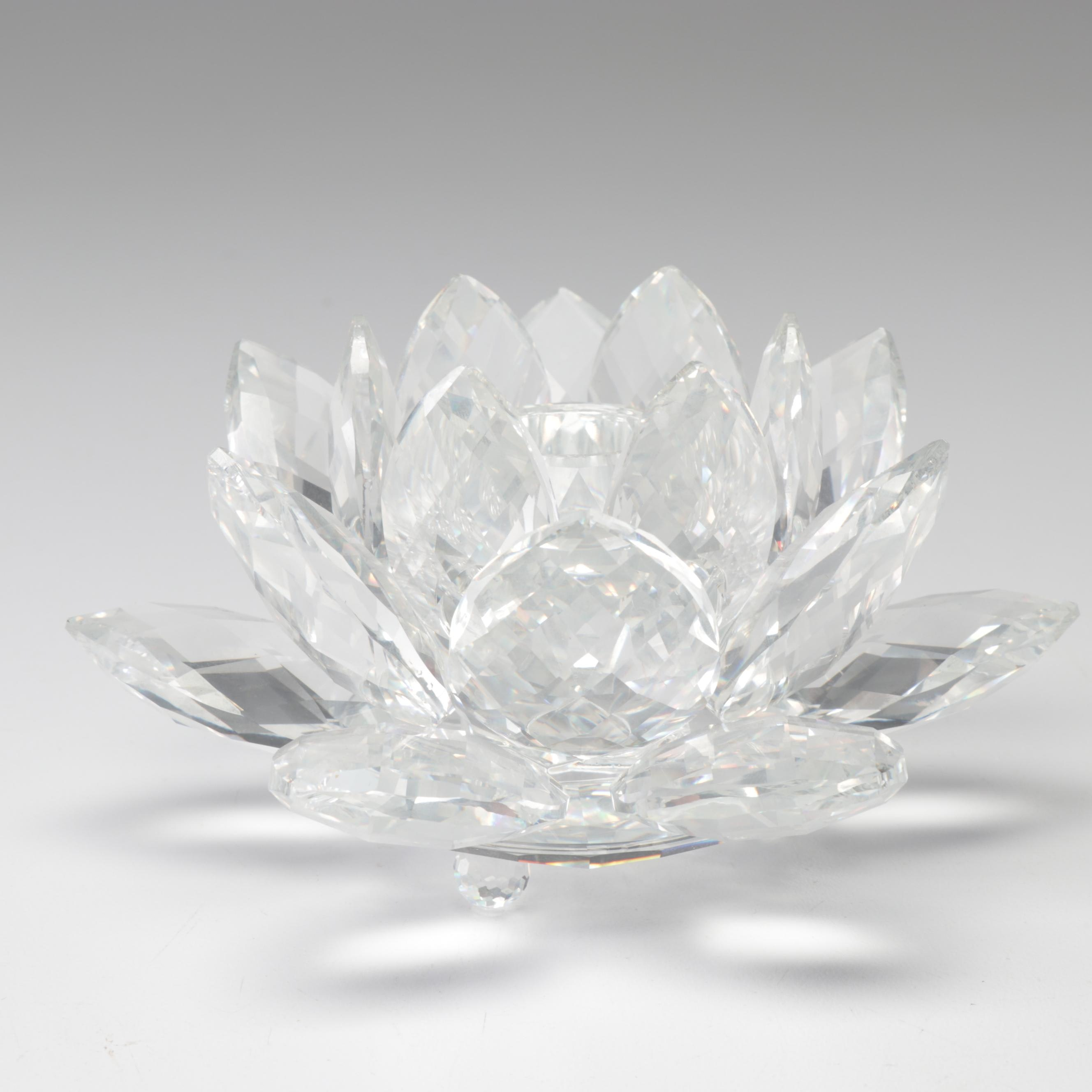Swarovski Crystal Lotus Candleholder