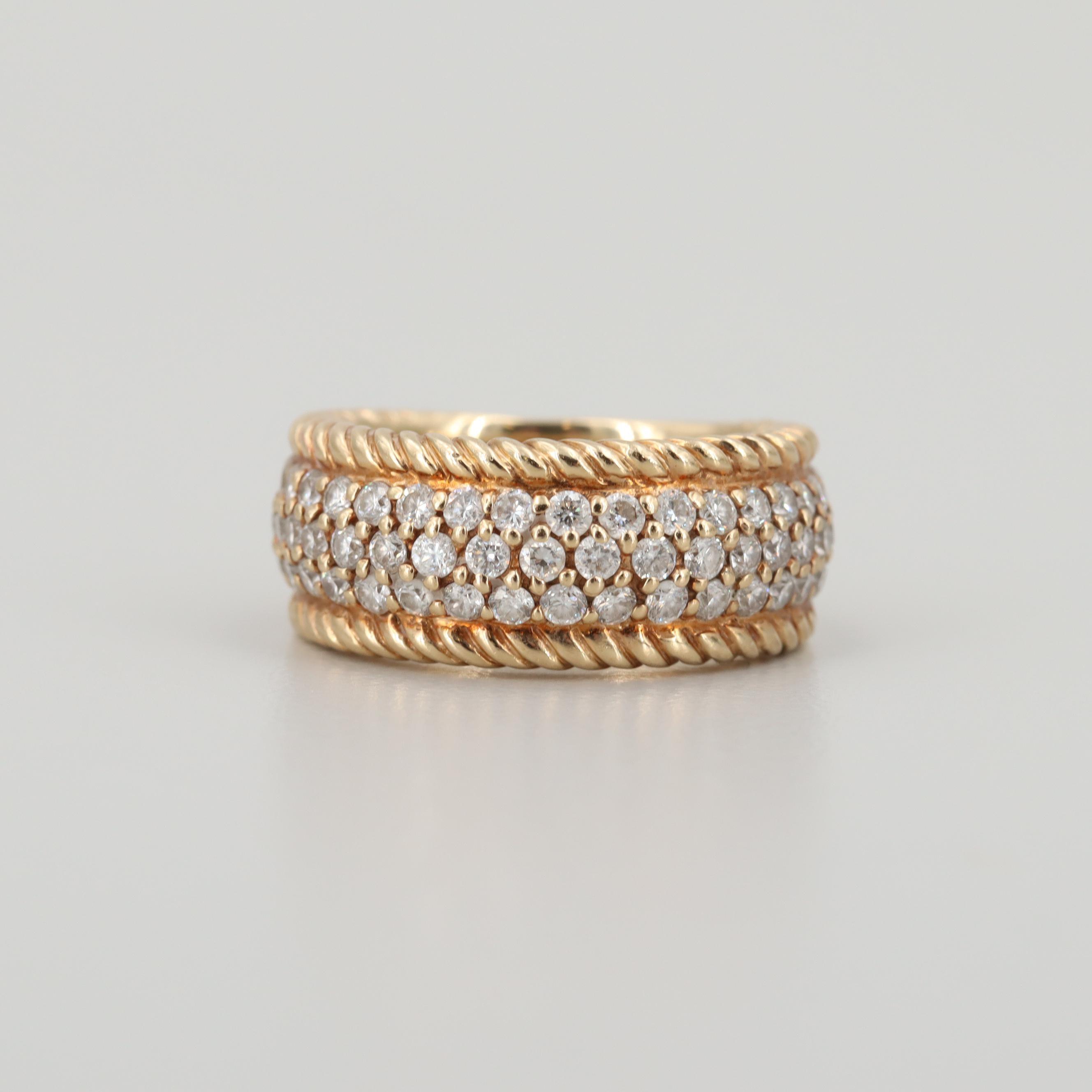 Sonia B. 14K Yellow Gold 1.52 CTW Diamond Ring