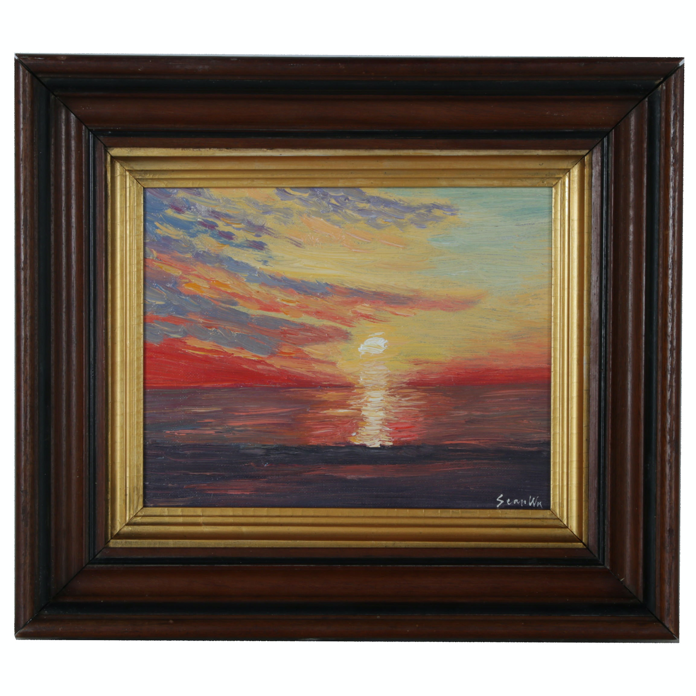 Sean Wu Oil Painting of Sunset