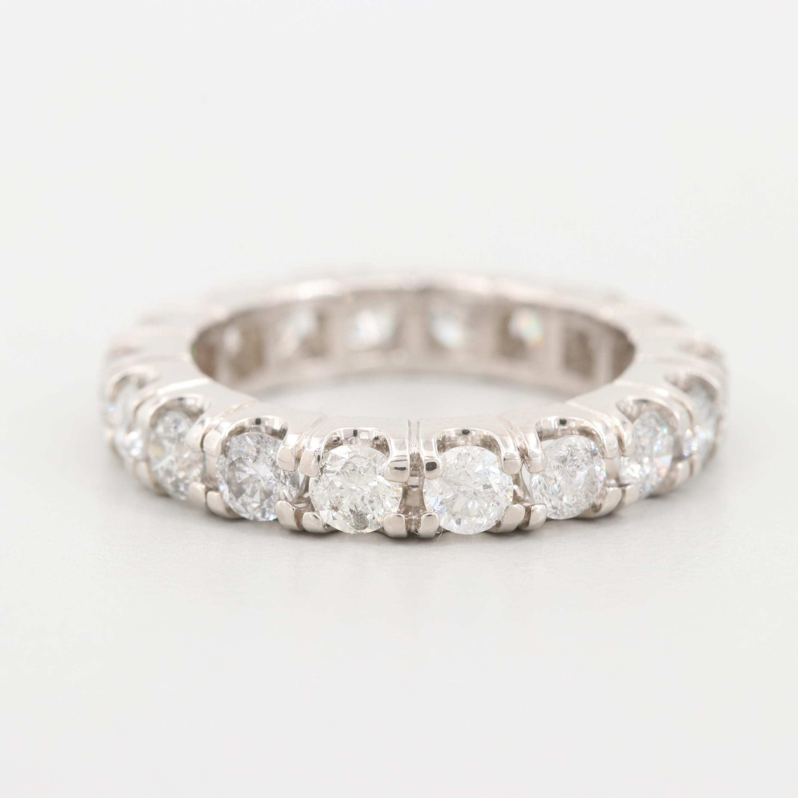 14K White Gold 2.17 CTW Diamond Eternity Band