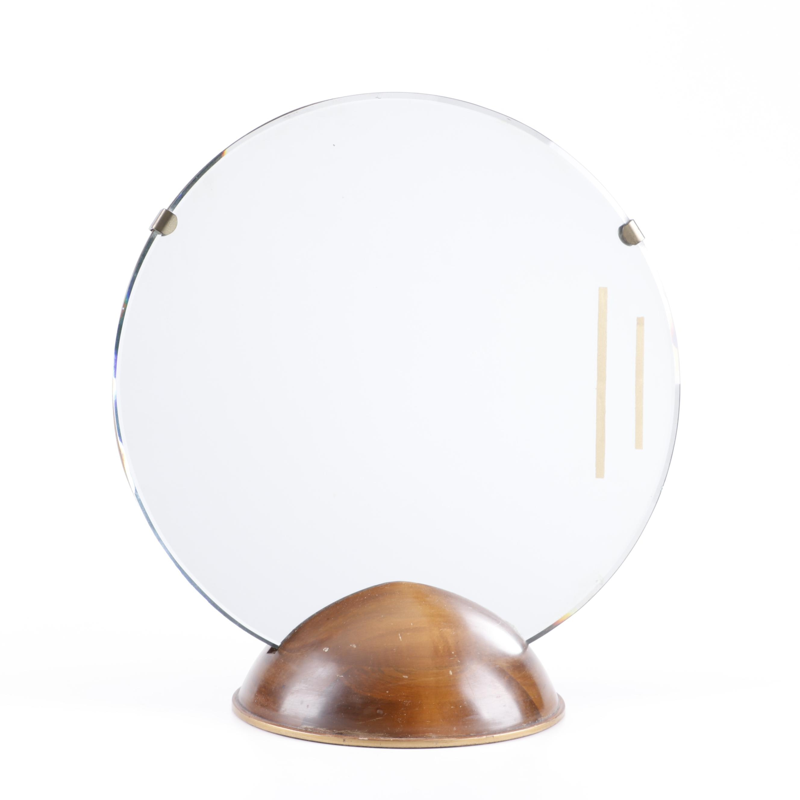 Danish Modern Teak Table Mirror, Mid-Century