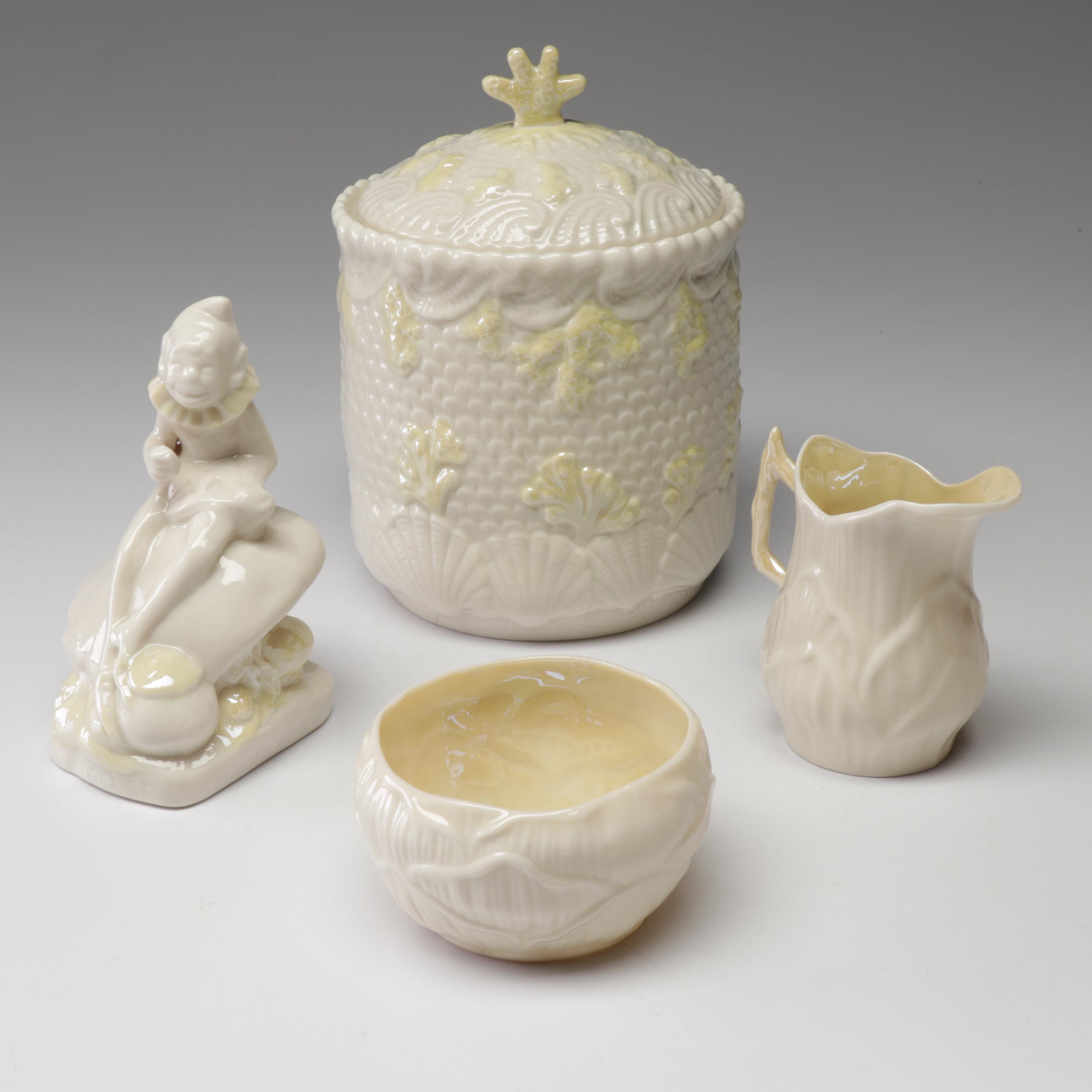 Belleek Tableware and Leprechaun Figurine
