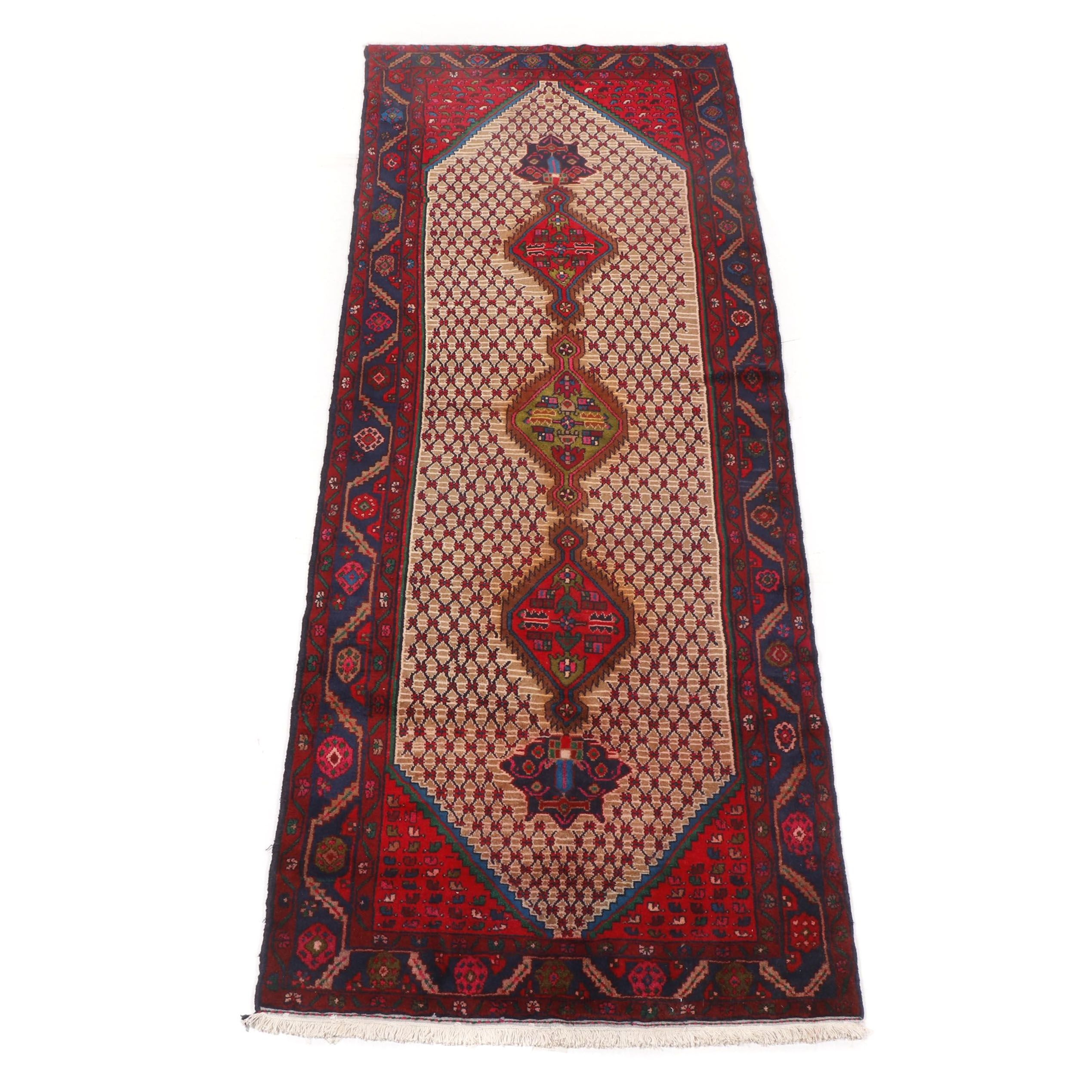 Hand Knotted Indo-Persian Hamadan Wool Area Rug