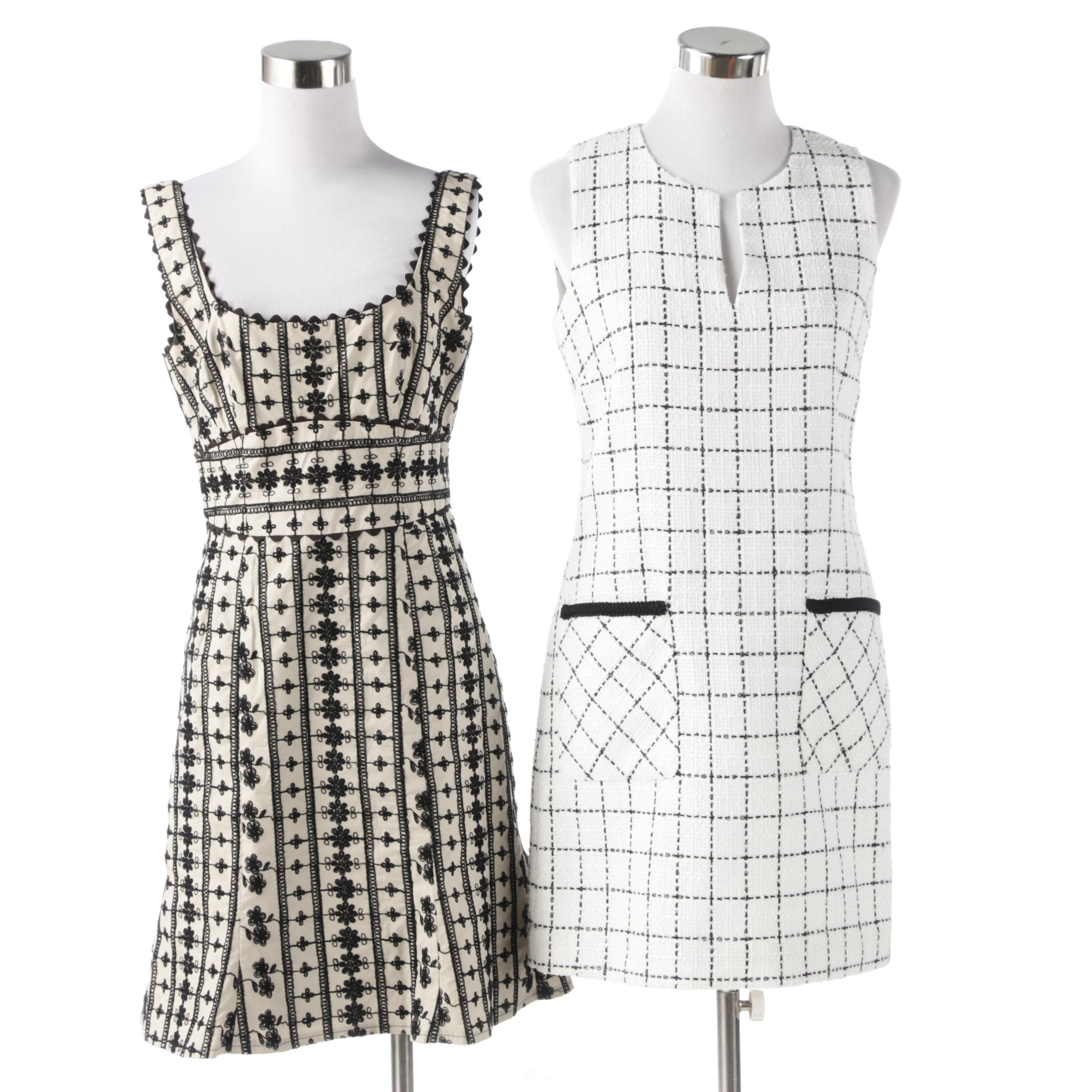 Karl Lagerfeld Paris Tweed Shift Dress and Nanette Lepore Embroidered Dress