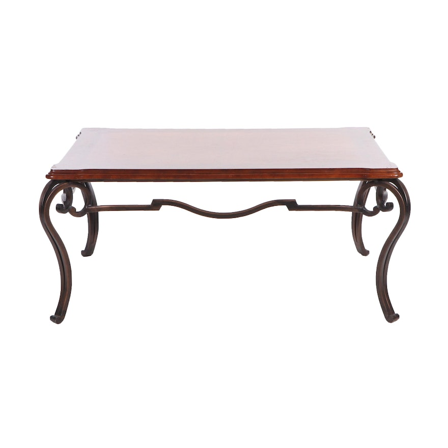 Fine French Country Style Painted Wood And Iron Coffee Table Contemporary Ncnpc Chair Design For Home Ncnpcorg