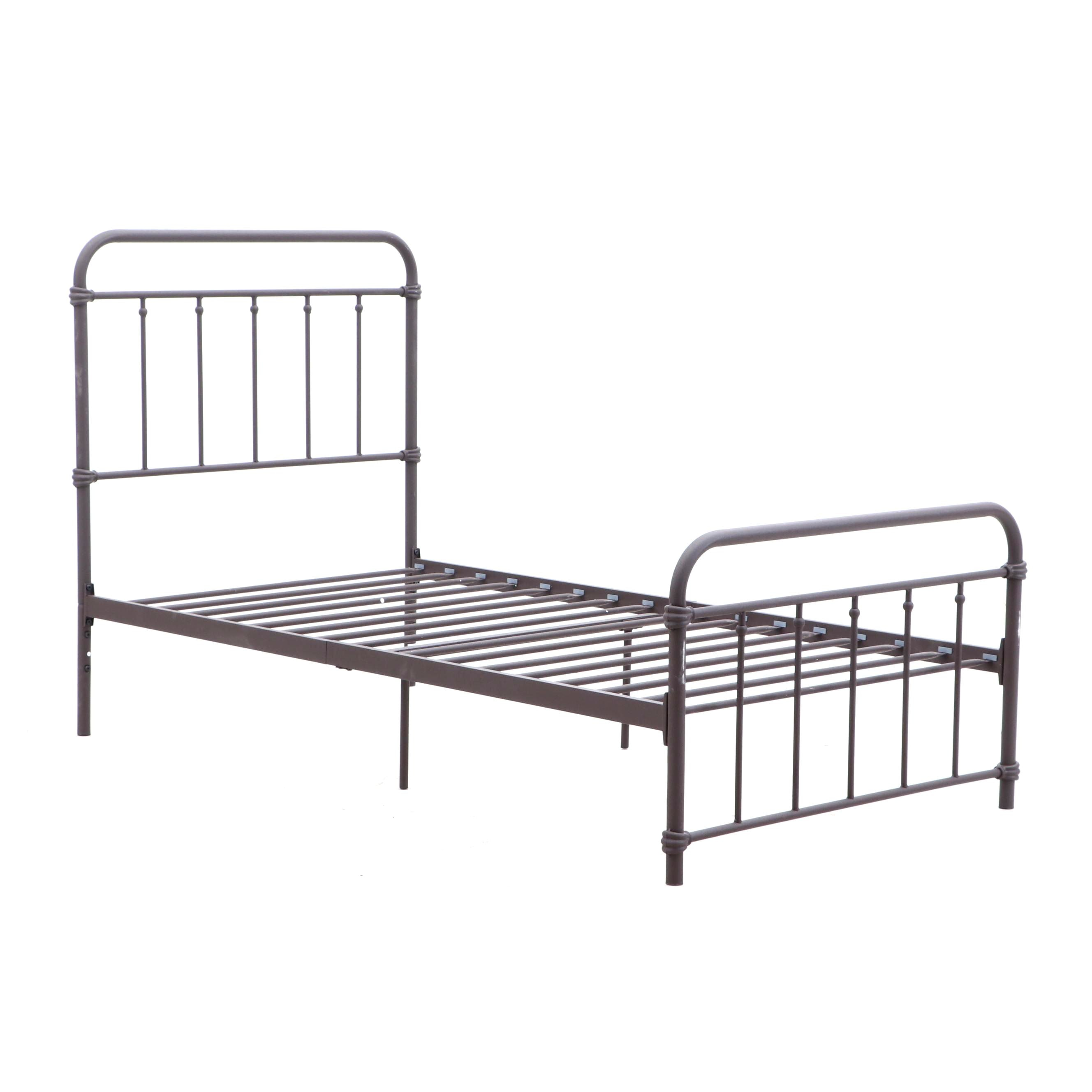 """Contemporary Dorel """"Brooklyn"""" Iron Twin Size Bed Frame in Black"""