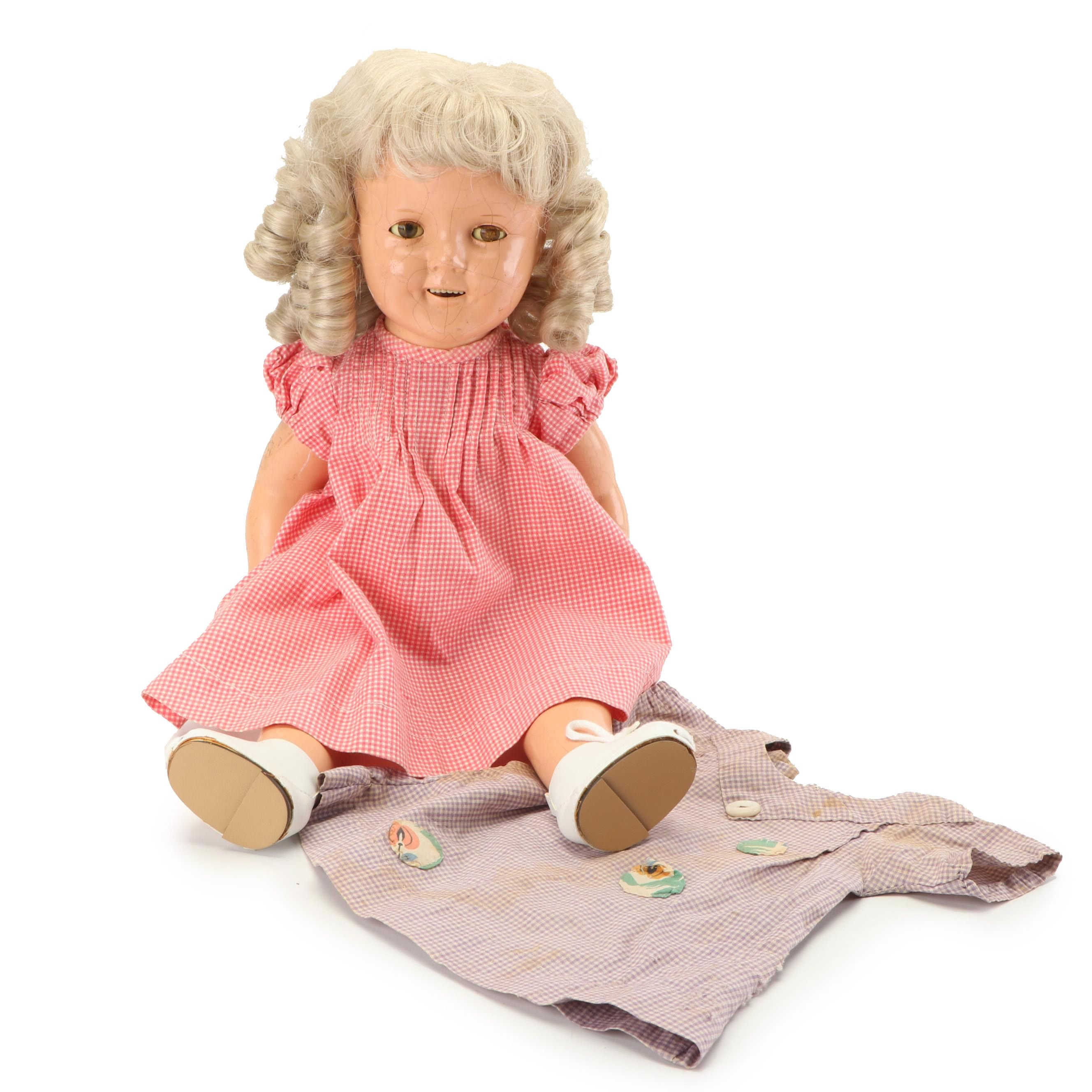 """Ideal """"Shirley Temple"""" Composition Doll, Vintage"""
