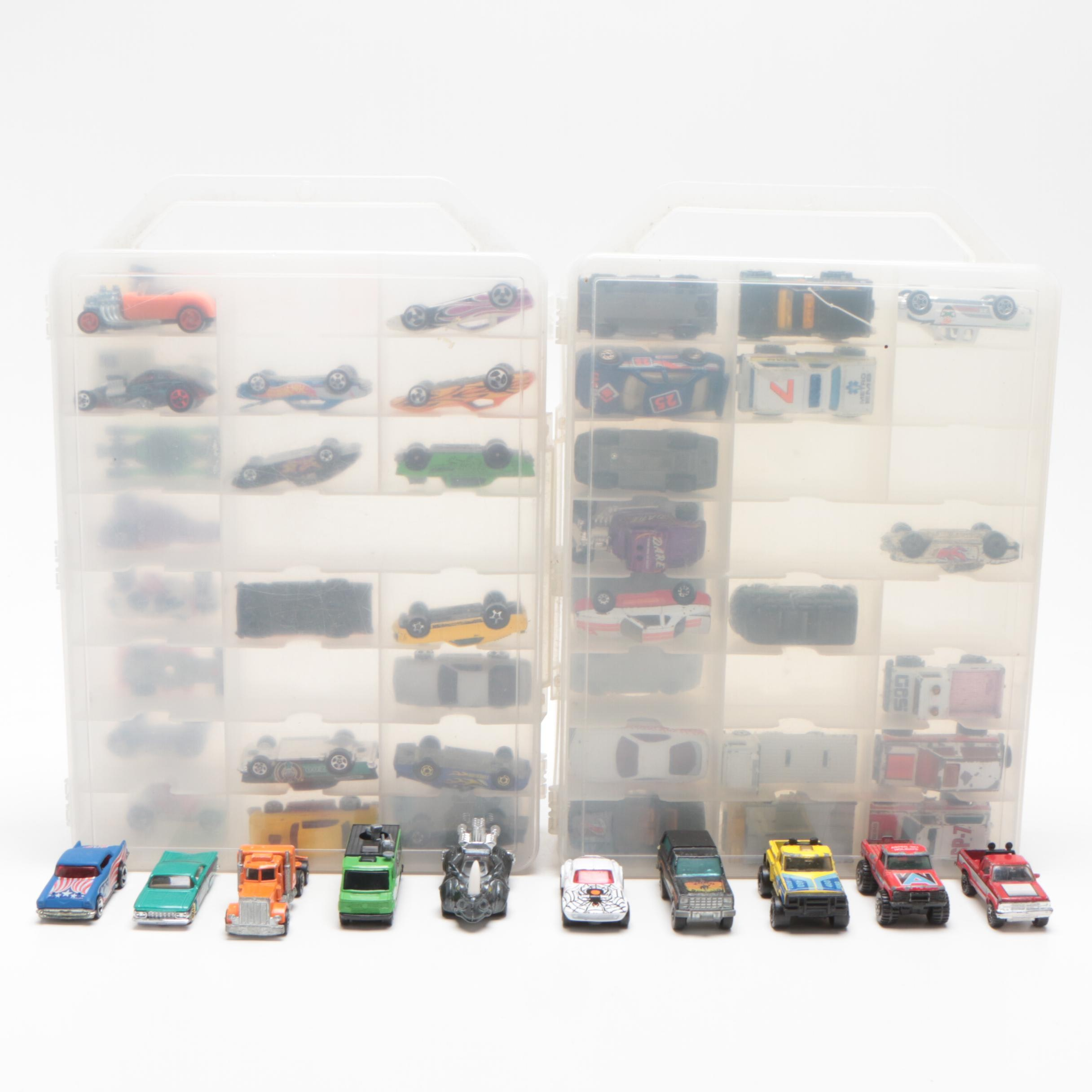Matchbox Cars with Carry Cases