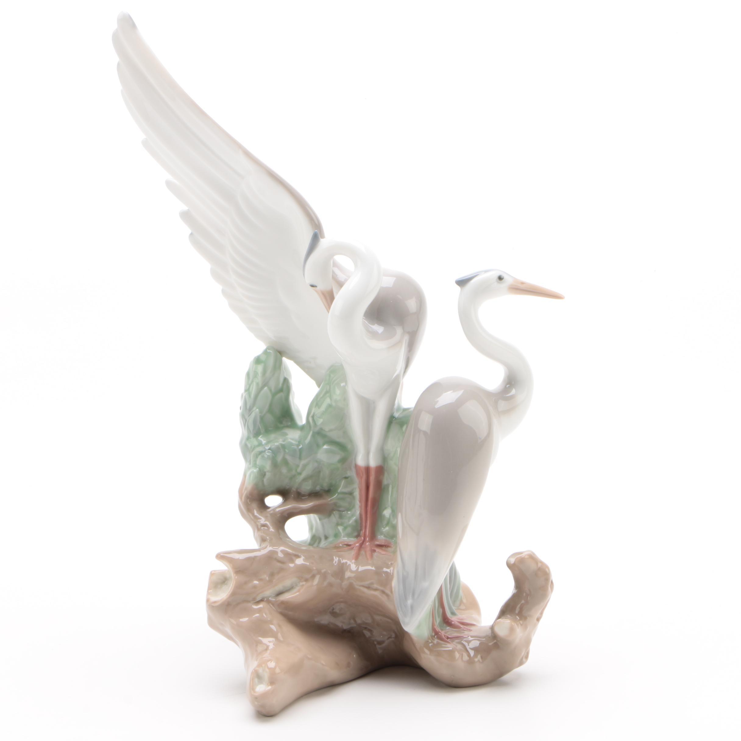 "Nao by Lladró ""Resting Herons"" Porcelain Figurine"