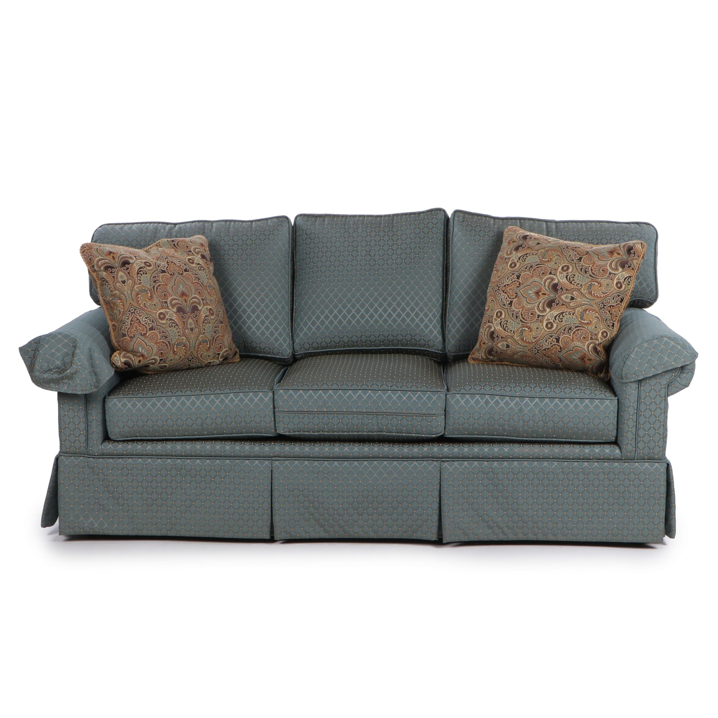 Huntington House Three Cushion Roll Arm Sofa, Contemporary