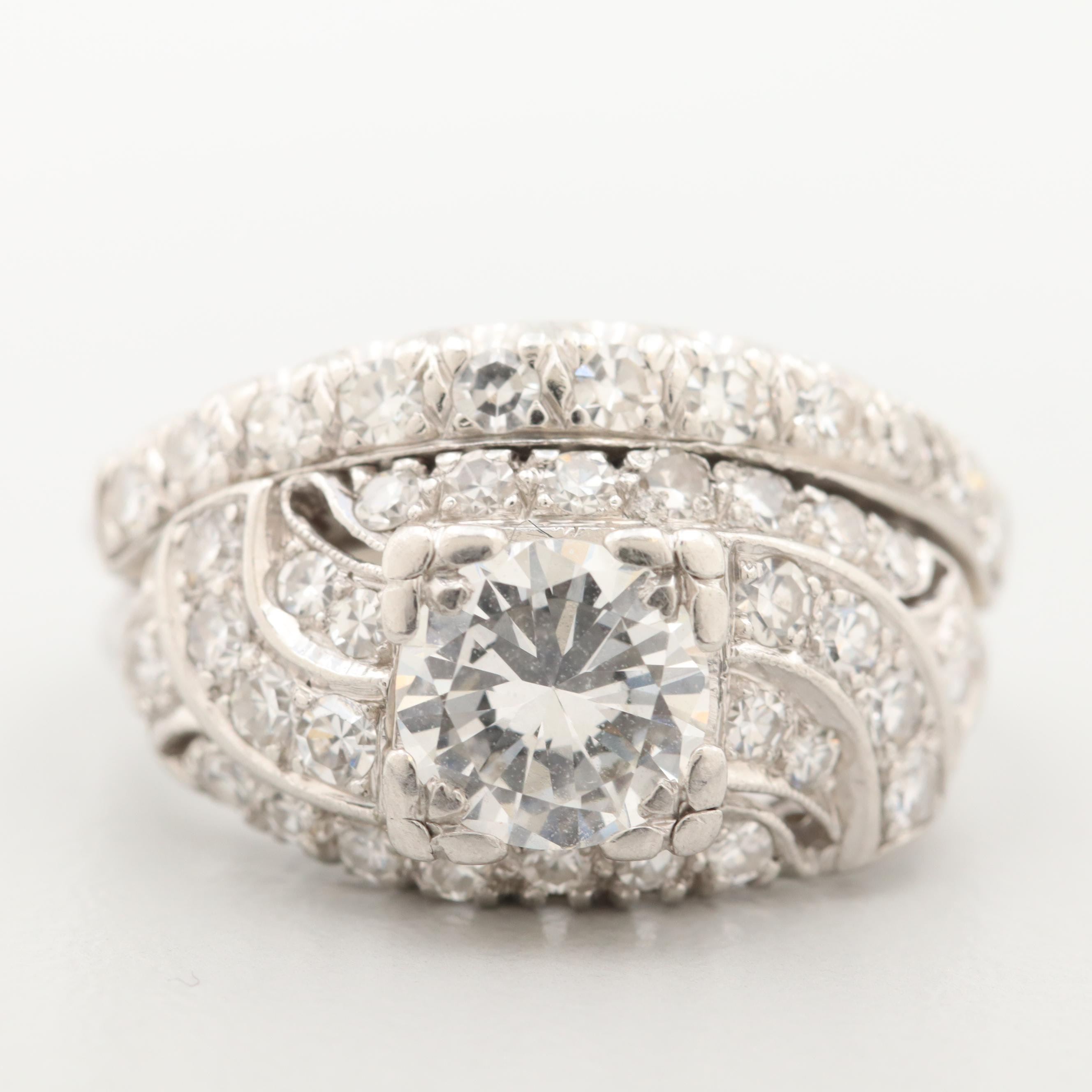 Vintage Platinum 1.95 CTW Diamond Ring