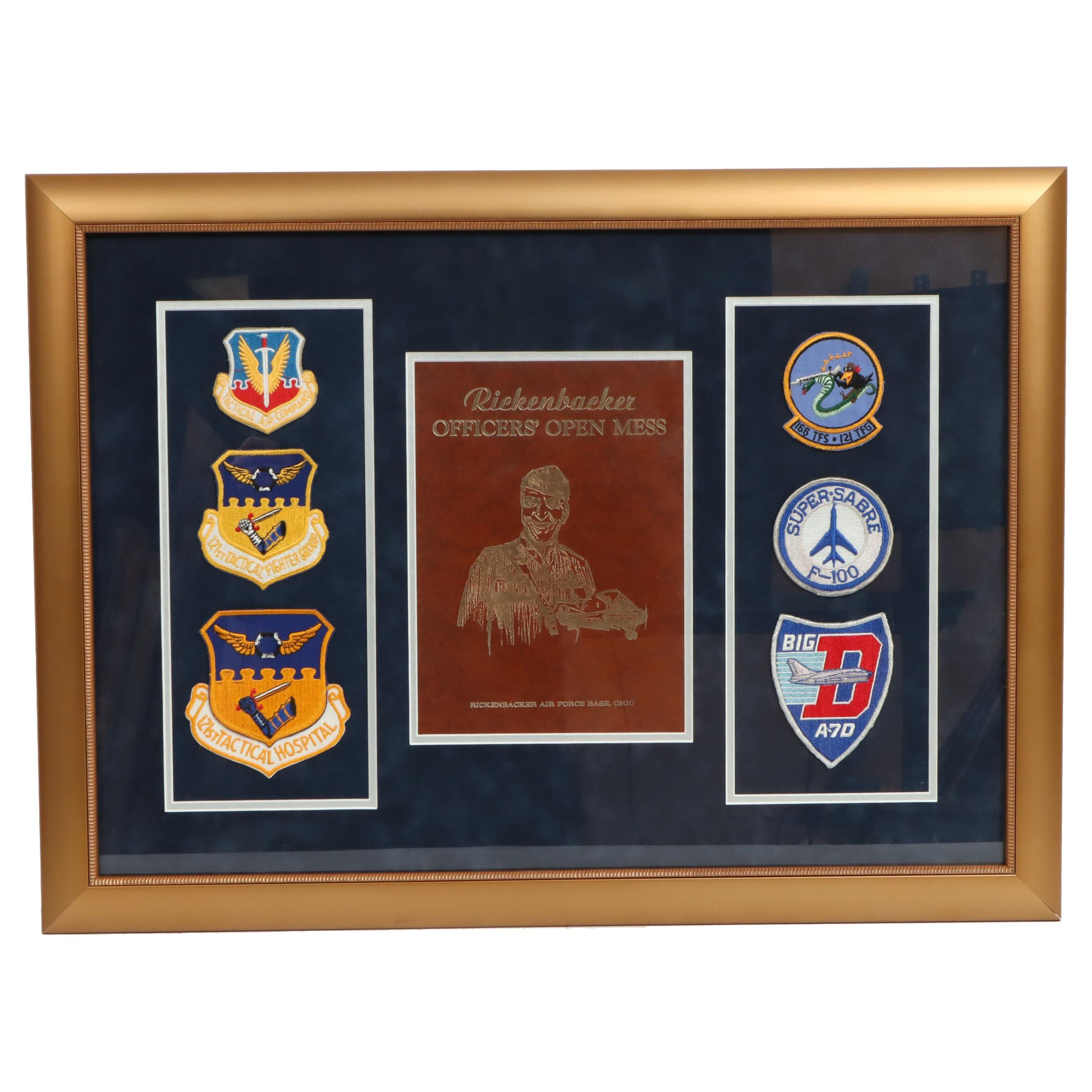 Framed Display 121st Tactical Fighter Group Patches