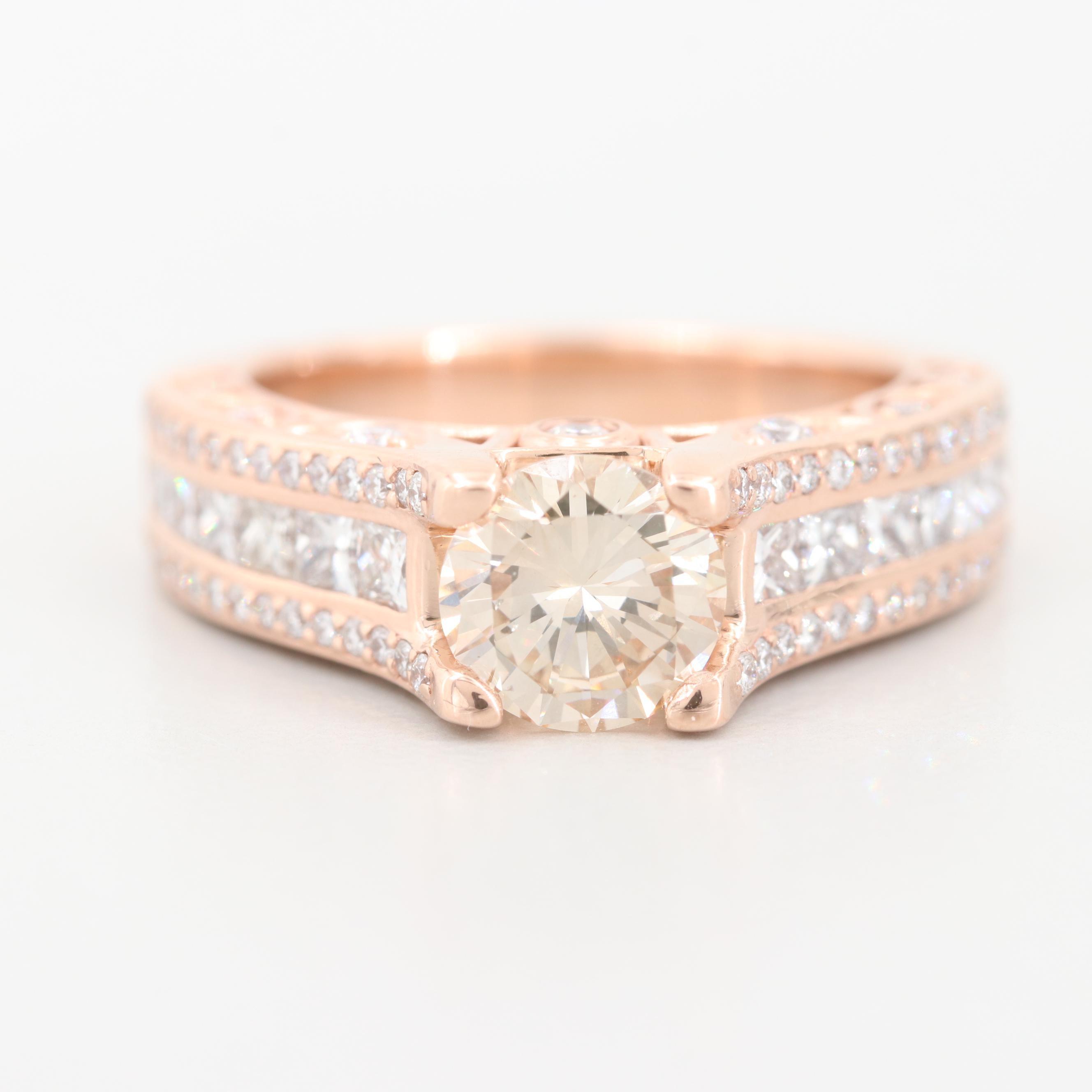 14K Rose Gold 2.78 CTW Diamond Ring