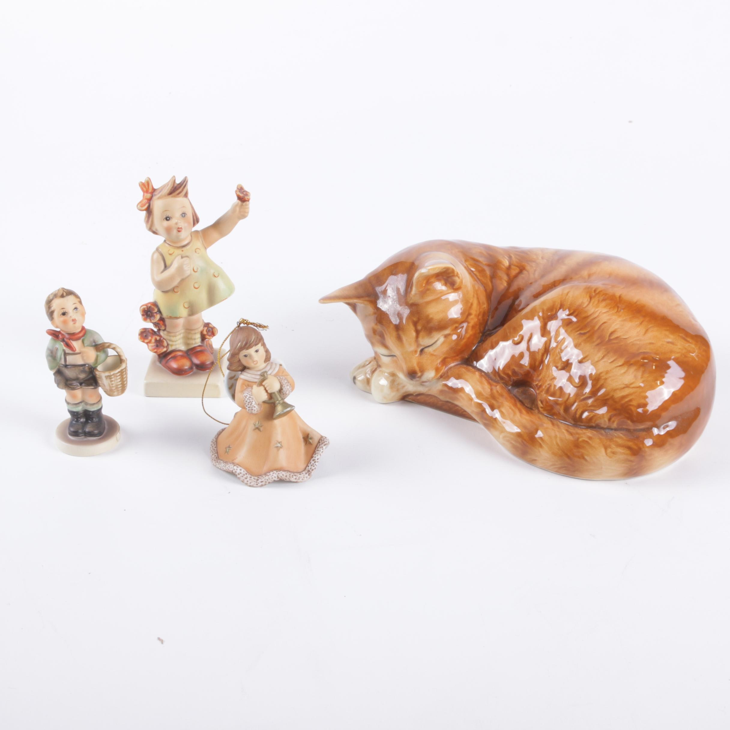 Goebel Hummel and Cat Figurines