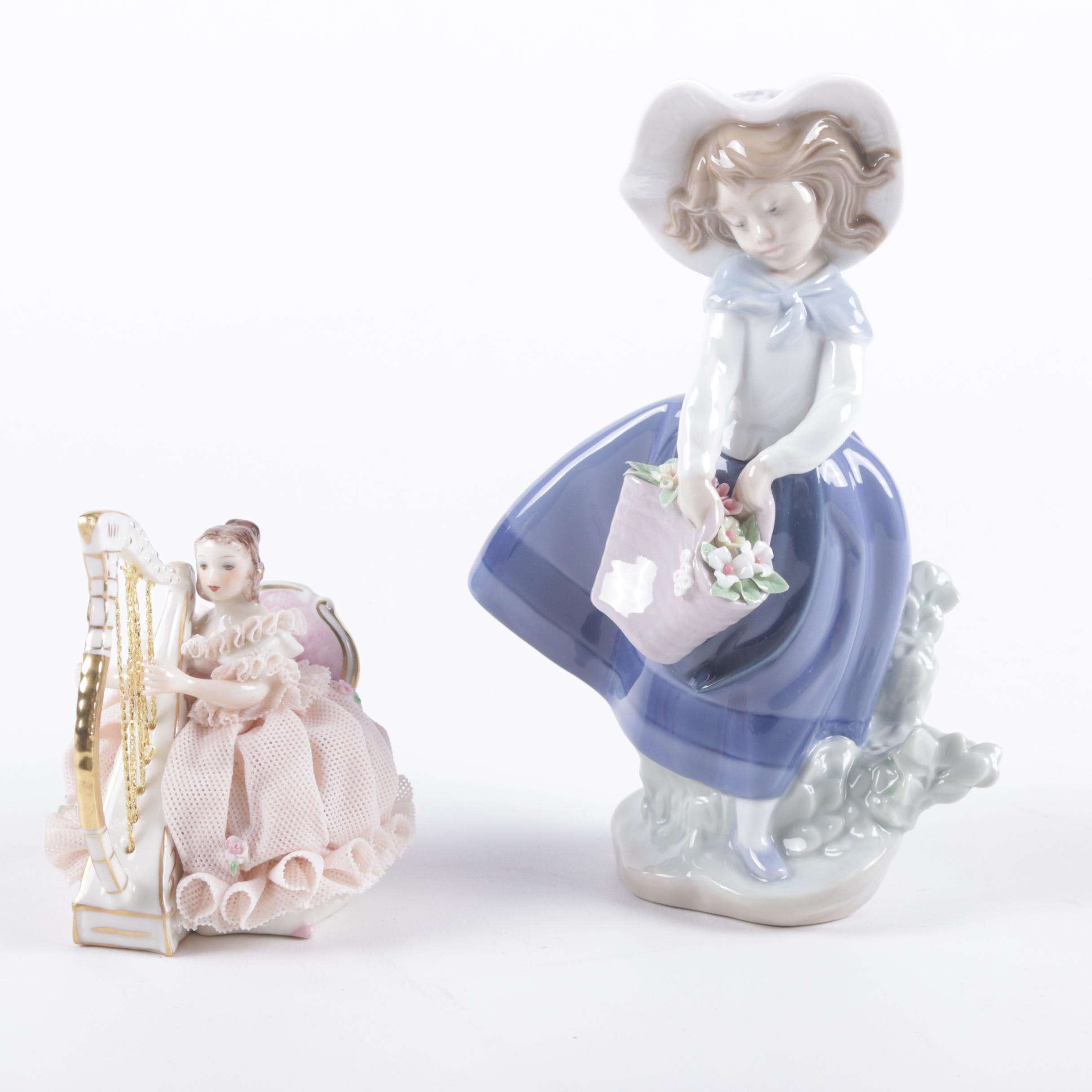 Lladro and Irish Dresden Porcelain Figurines