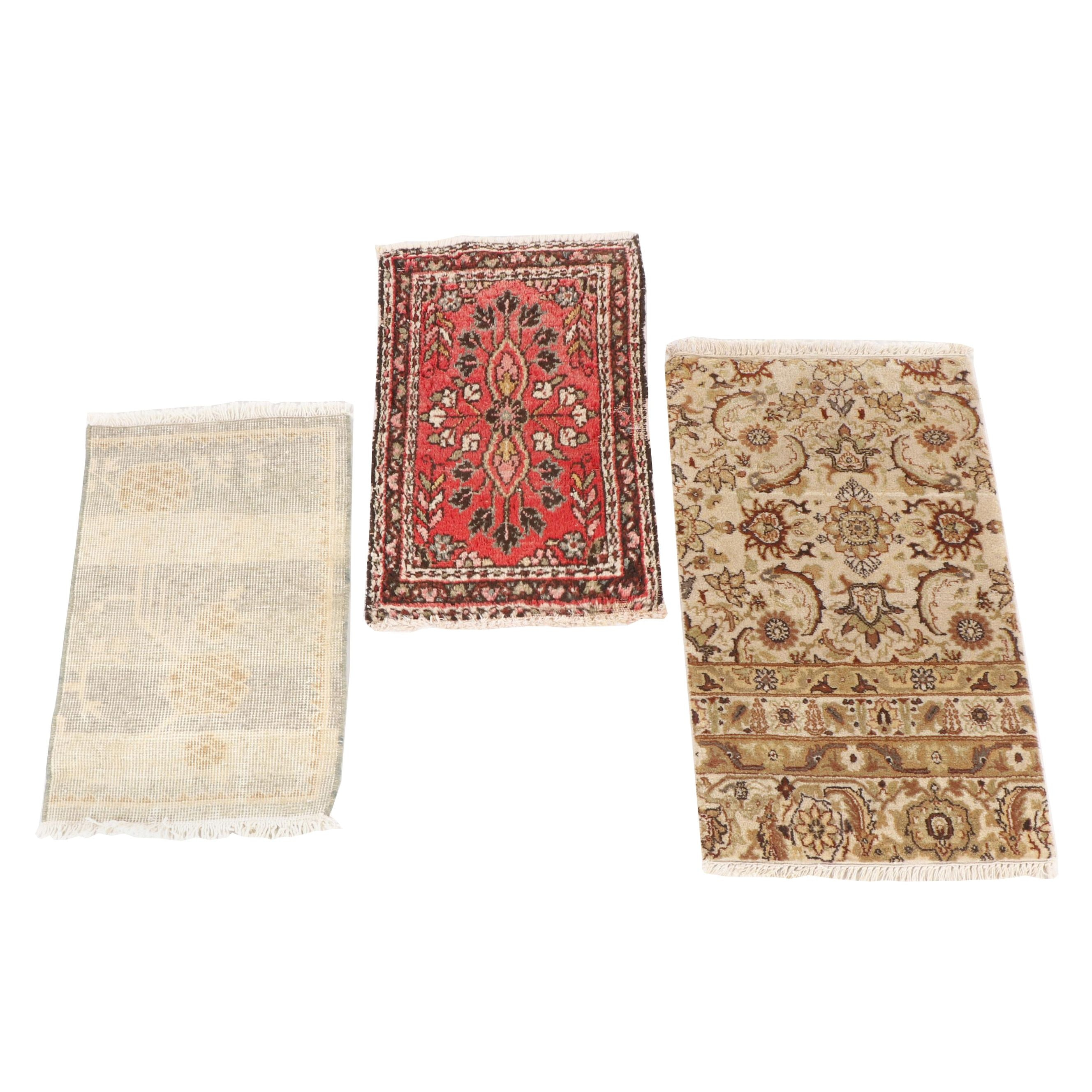 Hand-Knotted Indo-Kashan, Pakistani Peshawar and Persian Hamadan Wool Rugs