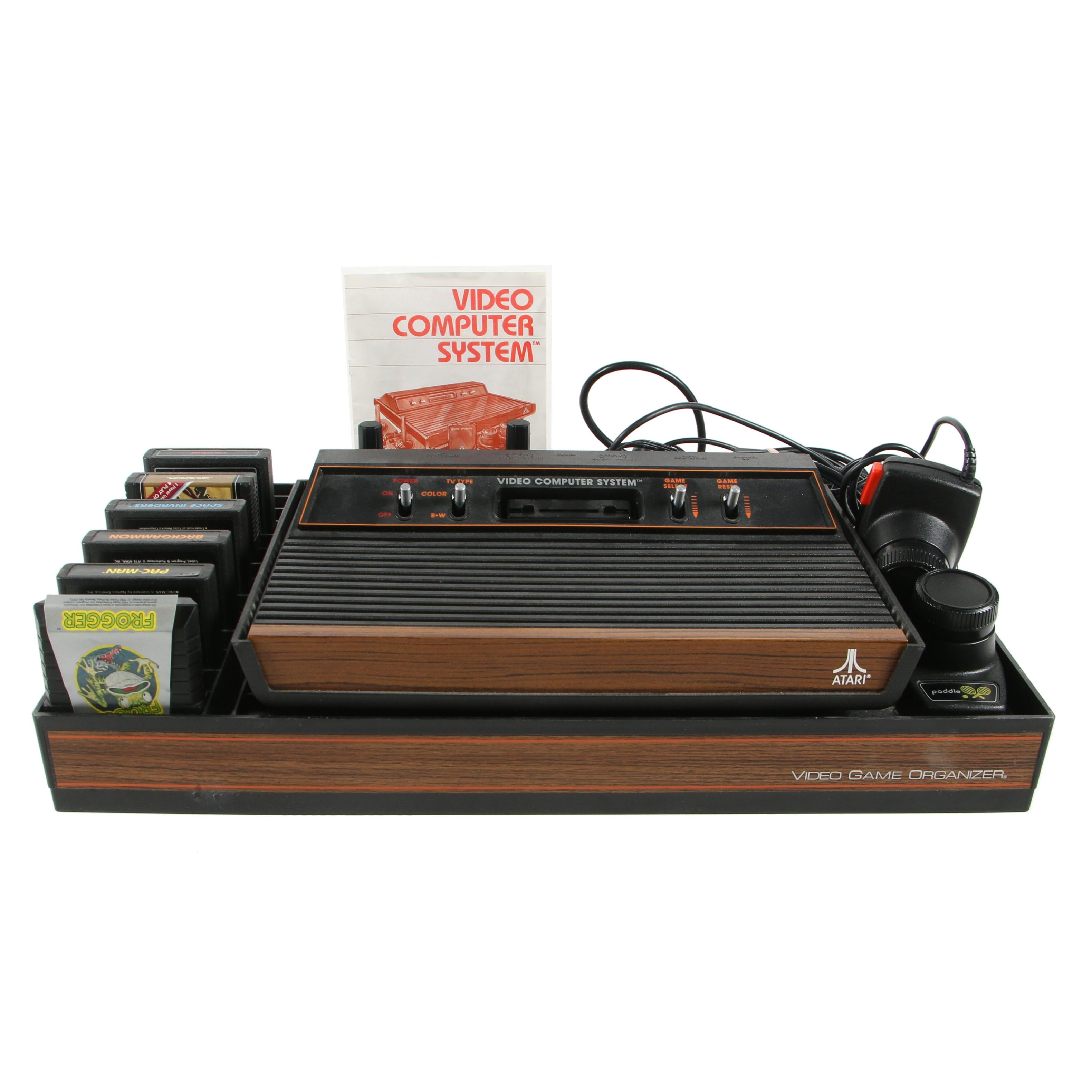 Atari Video Computer System with Games and Organizer