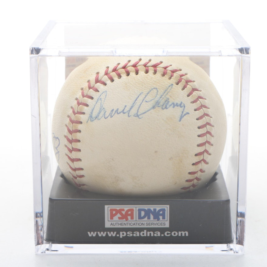 Ed Bailey and Darrel Chaney PSA/DNA Certified Autographed Wilson Baseball