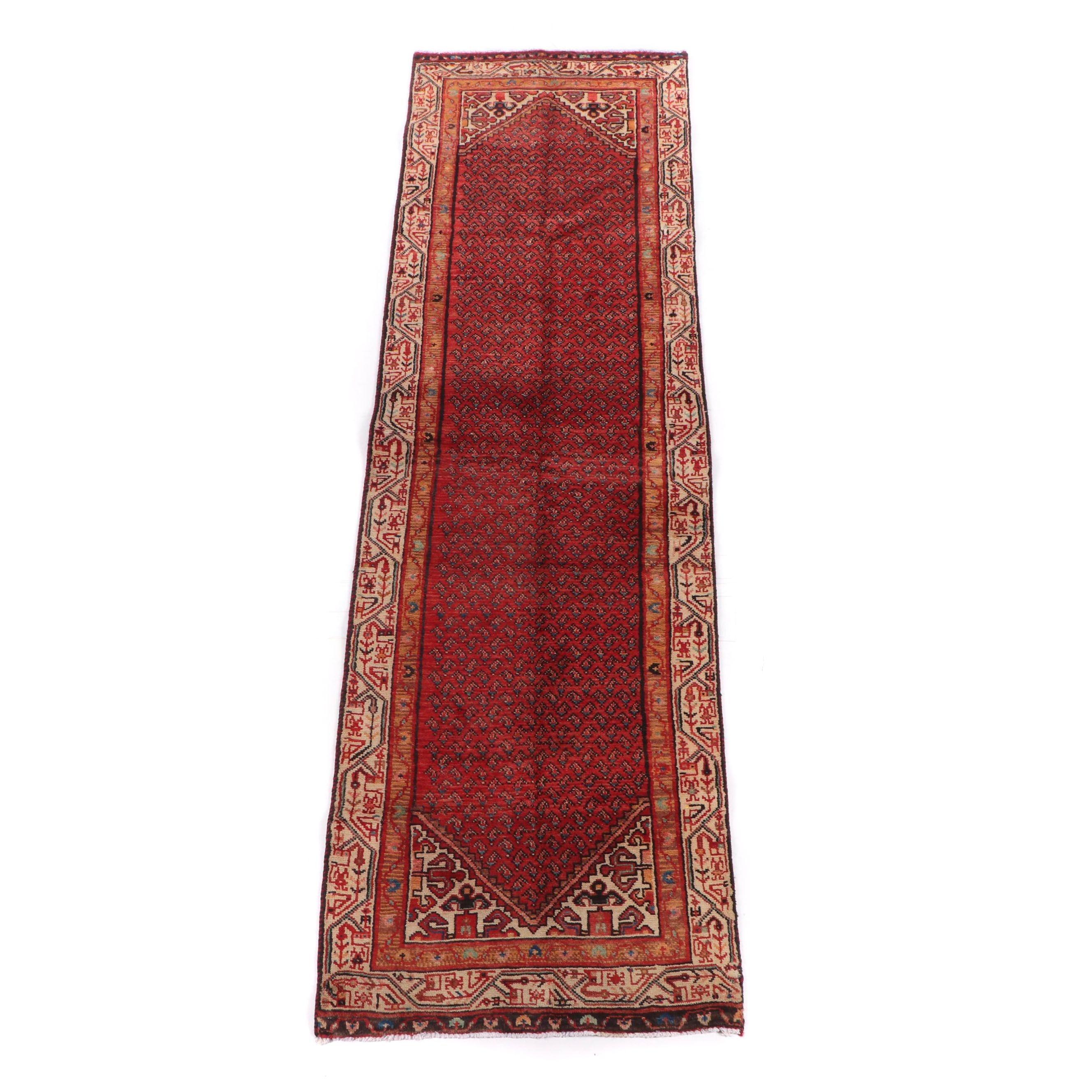 Hand-Knotted Everu Wool Carpet Runner