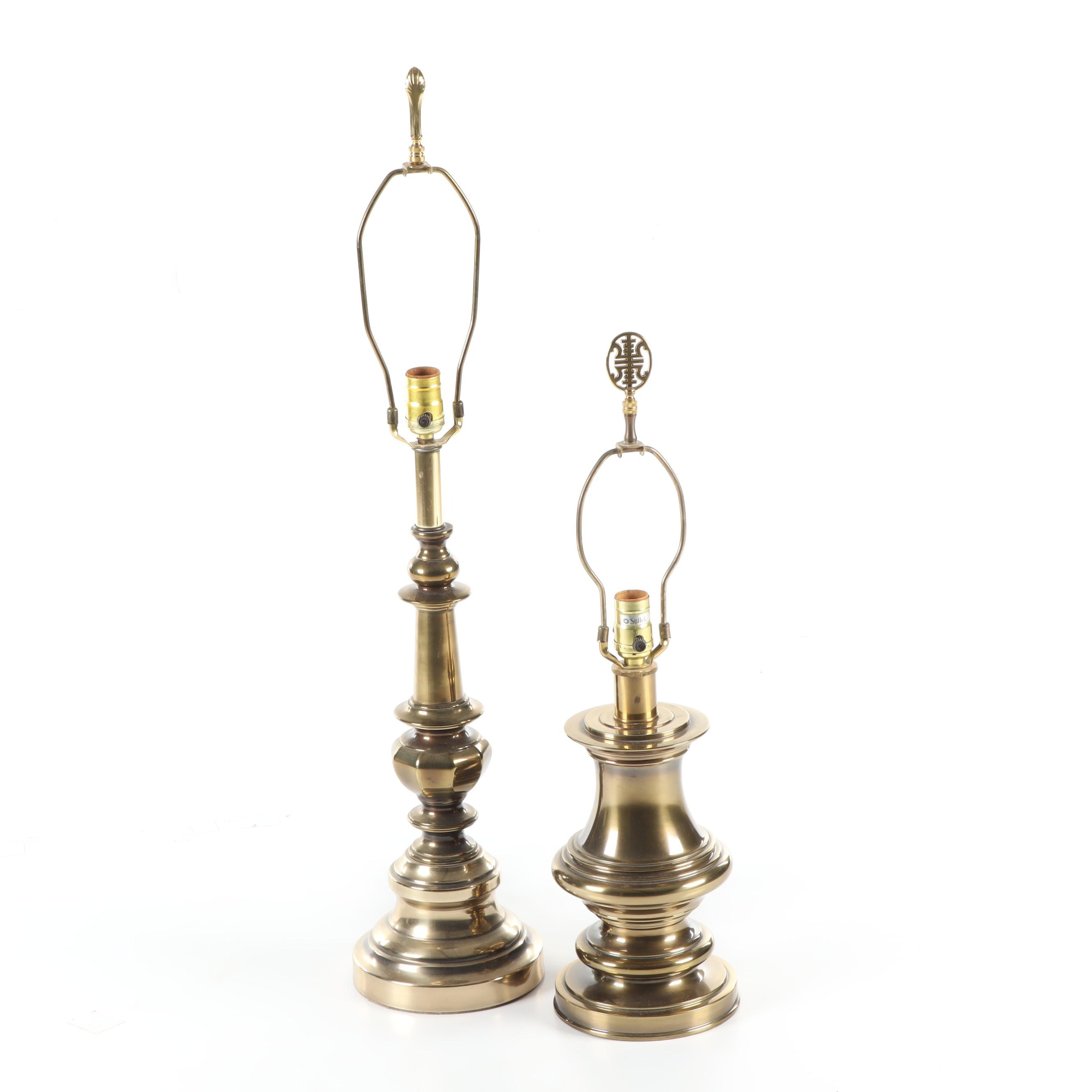 Brass Table Lamps Including Stiffel, Mid to Late 20th Century