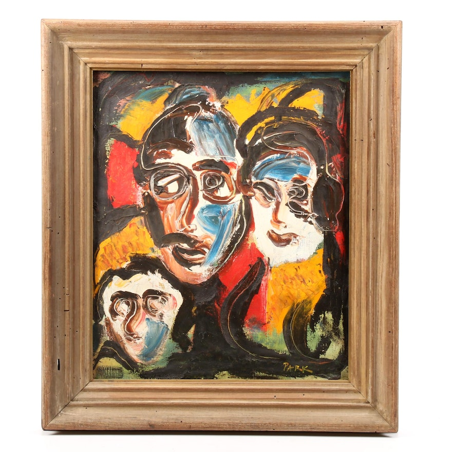 Abstracted Group Portrait Oil Painting