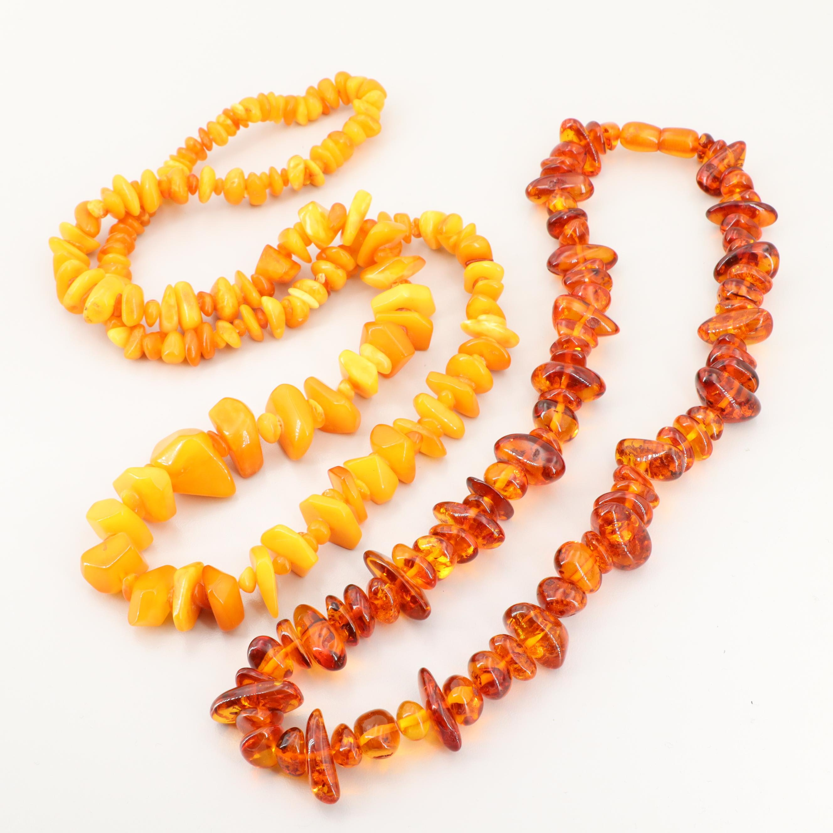 Amber Beaded Necklaces