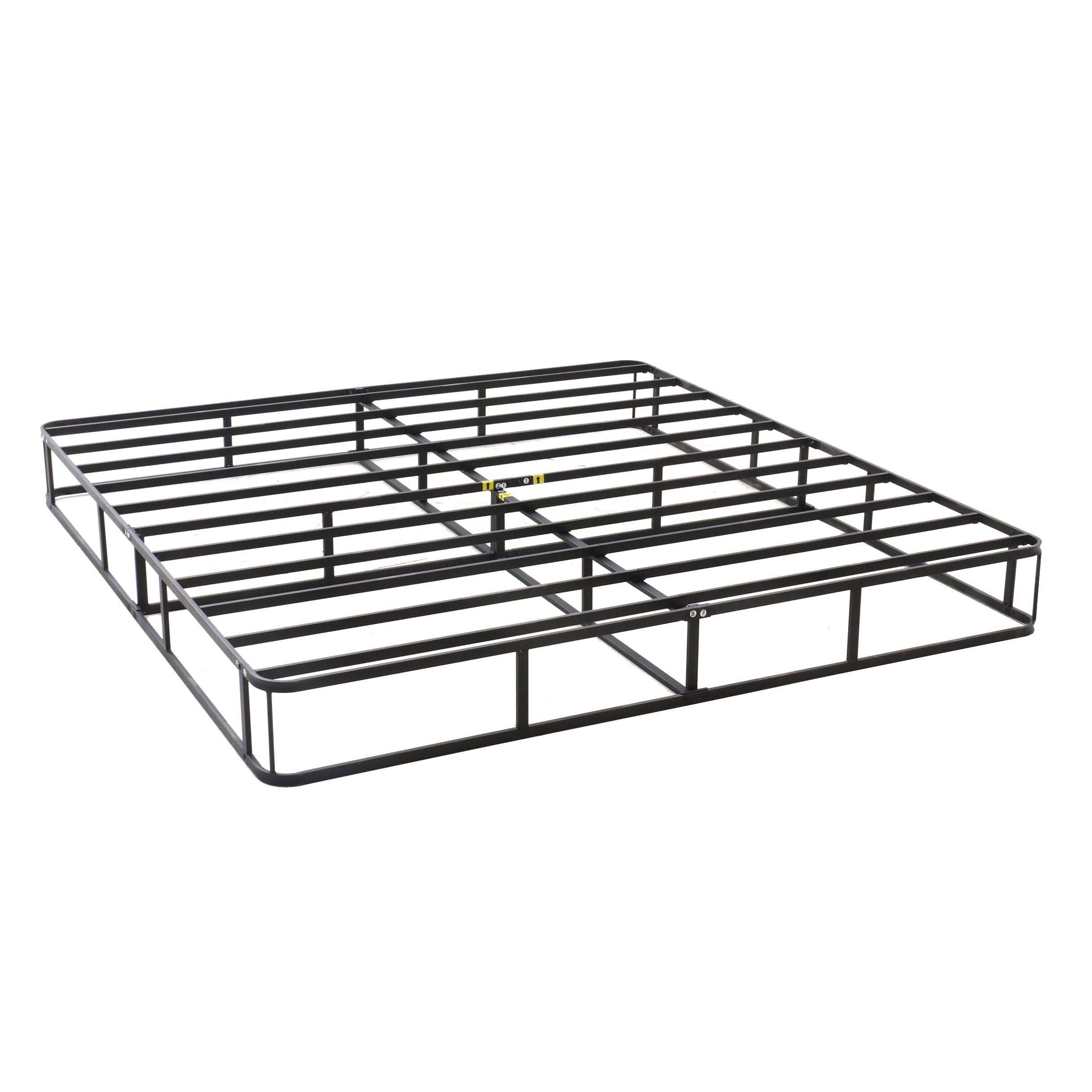 Contemporary Metal King Size Bed Frame in Black