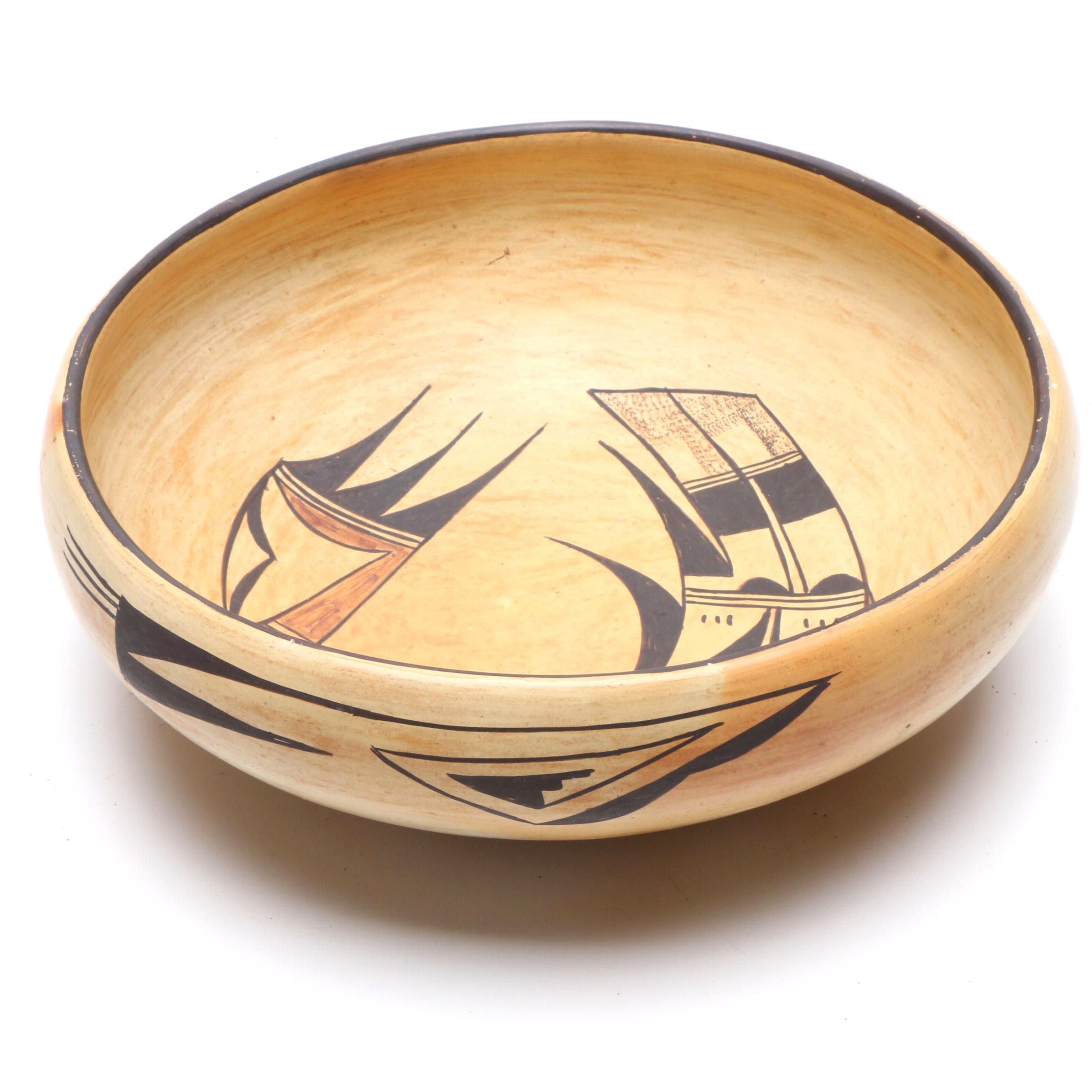Ceramic Bowl with Stylized Bird
