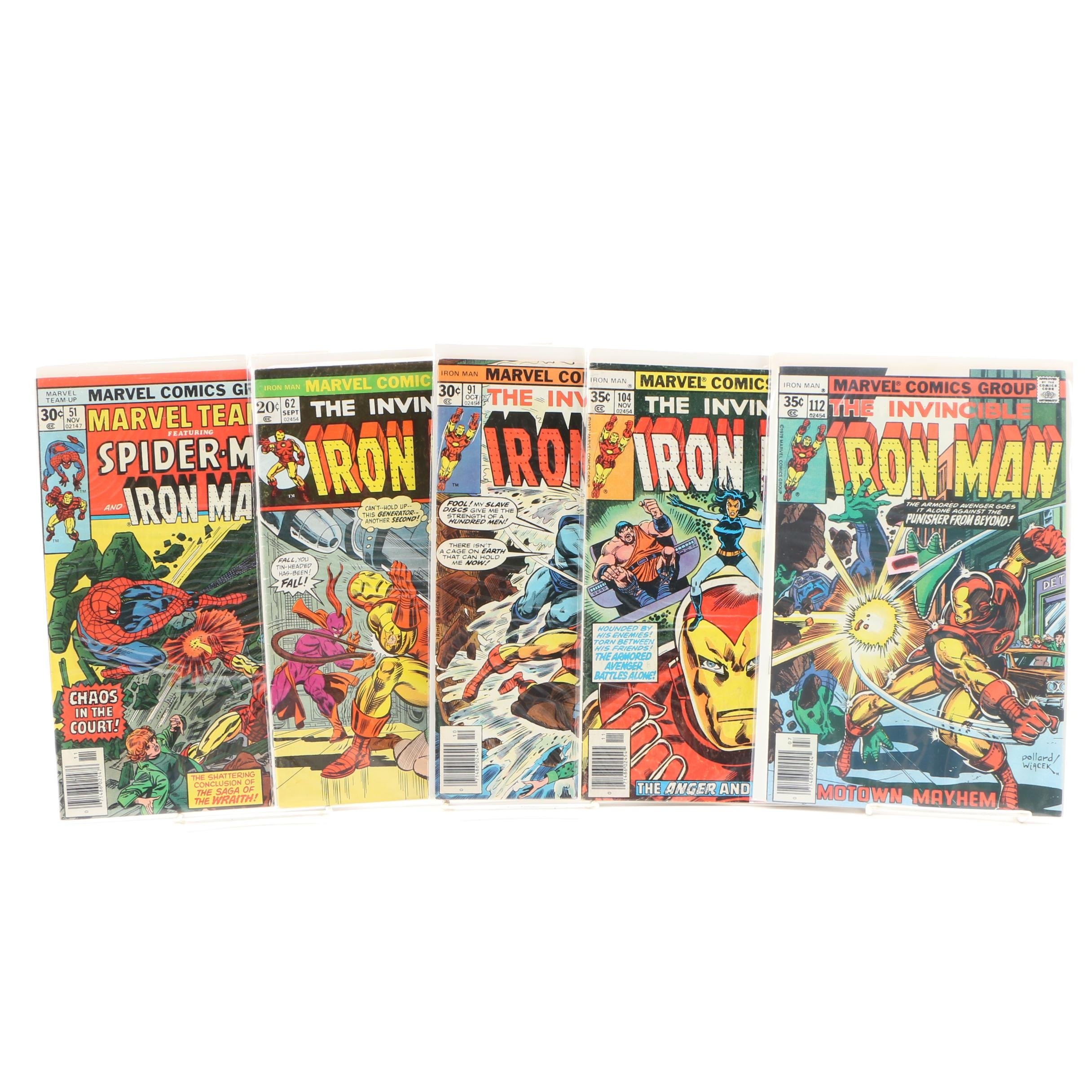 Iron Man Comic Books by Marvel Comics, 1970s