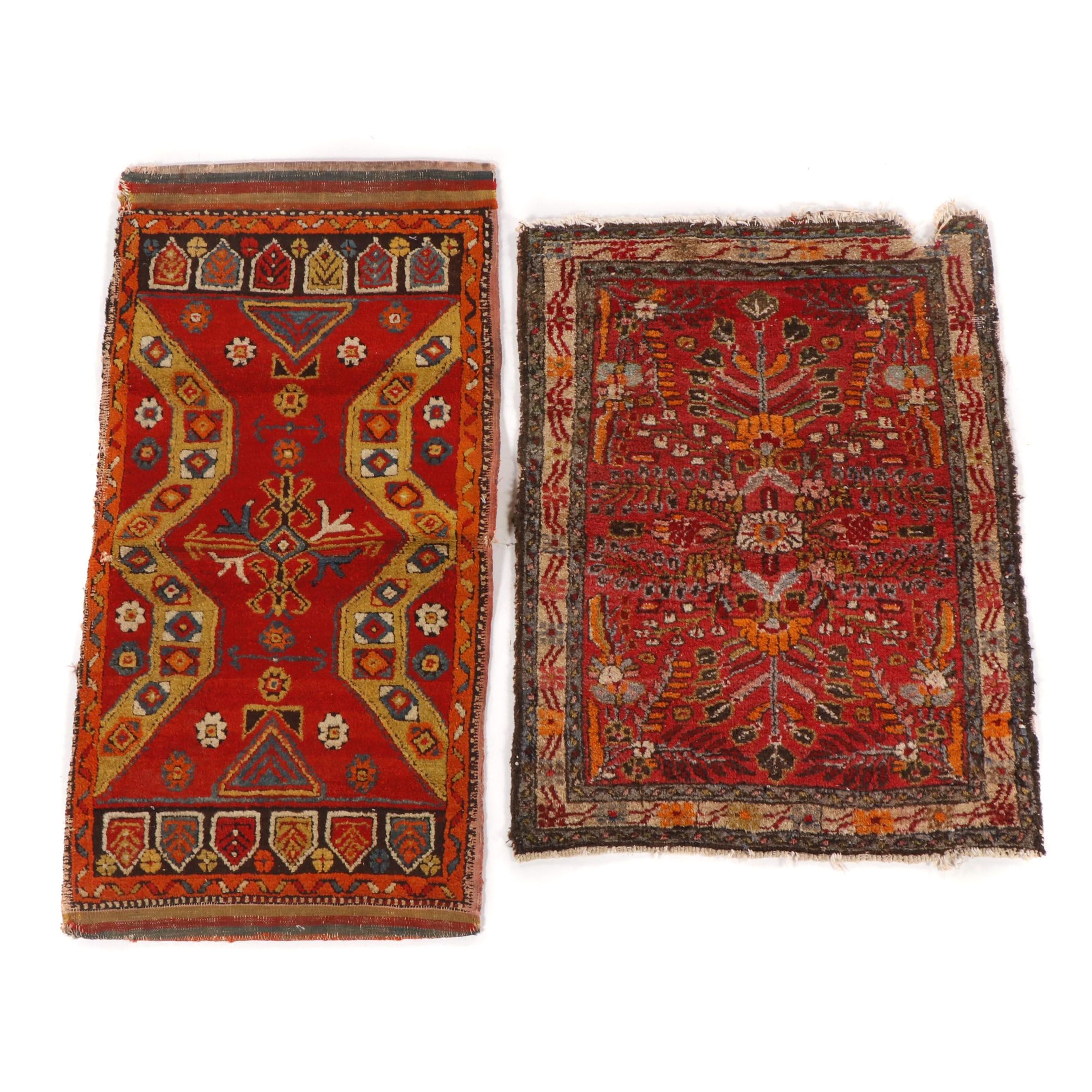 Hand-Knotted Turkish Yuruk and Persian Hamadan Wool Rugs