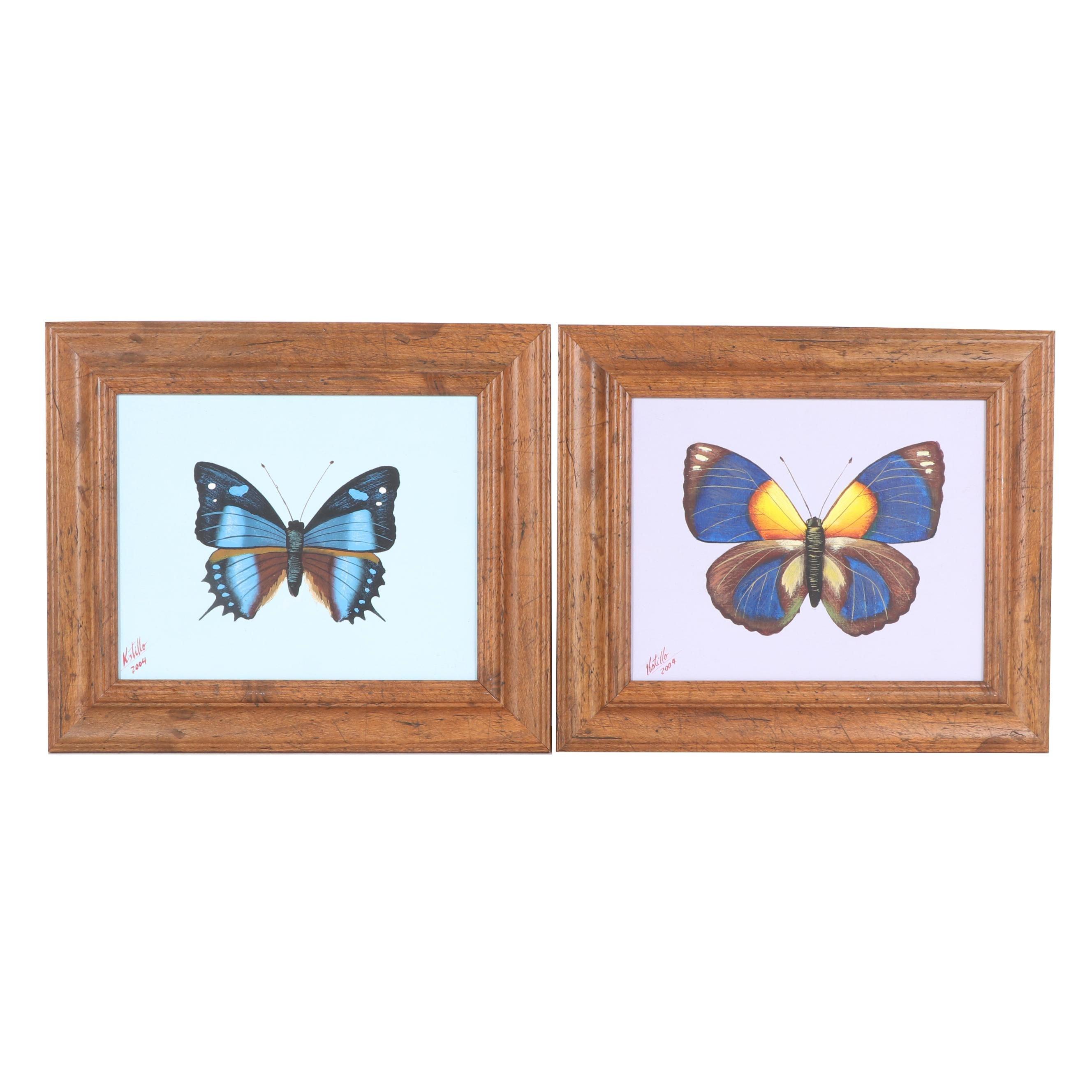 Kstillo Oil Paintings of Butterflies