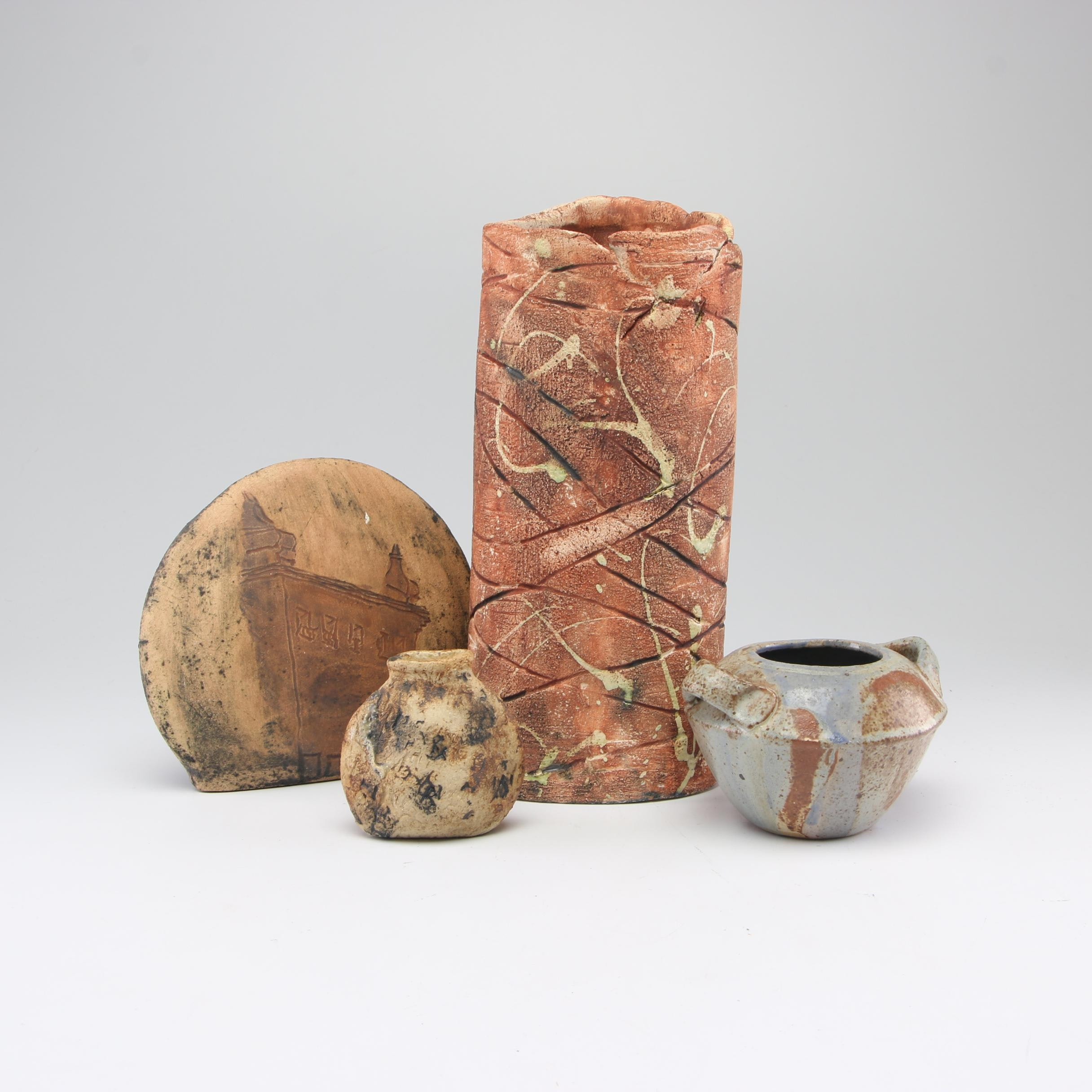 Handbuilt Stoneware Decorative Vessels Including Carol Loney