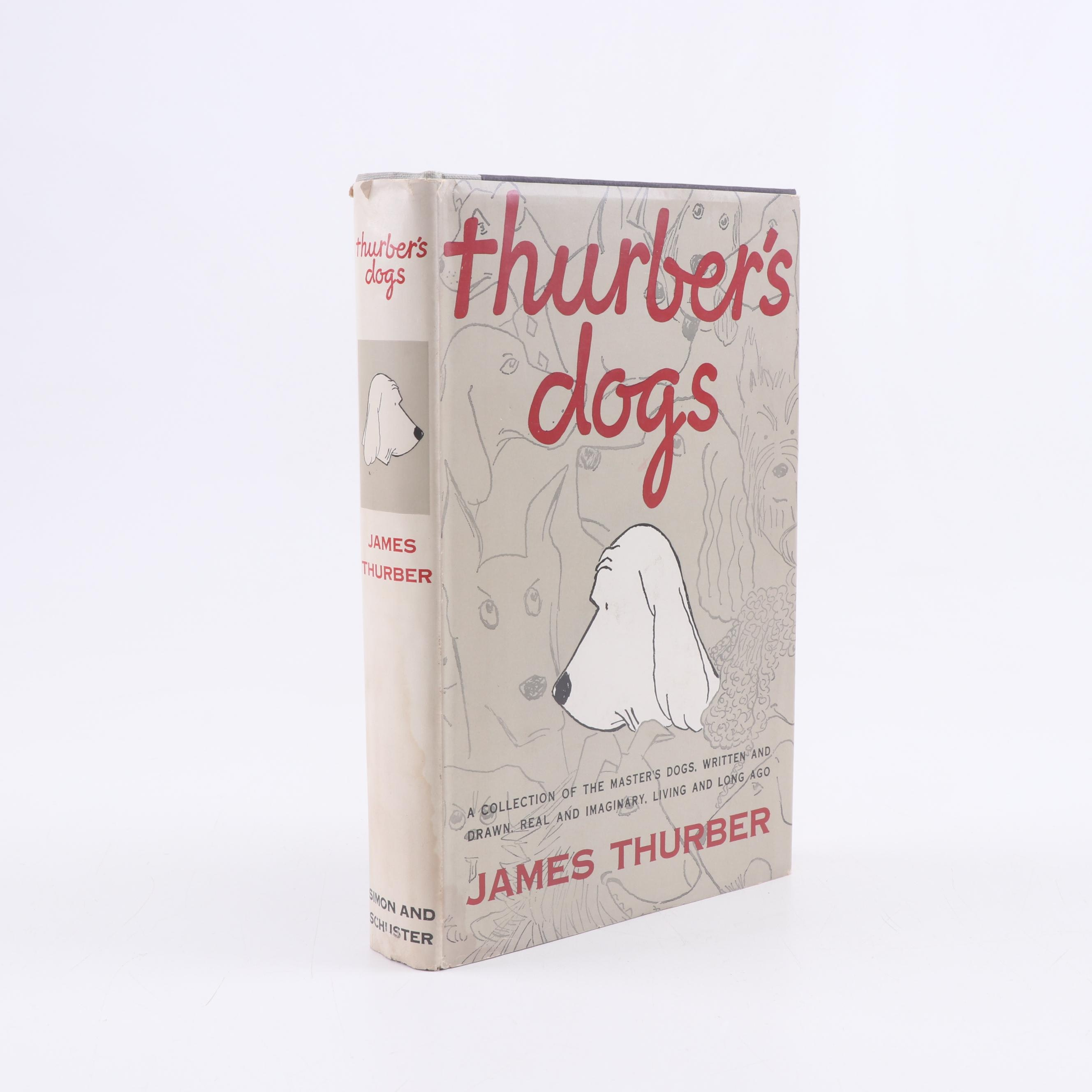 "1955 First Printing ""Thurber's Dogs"" by James Thurber"
