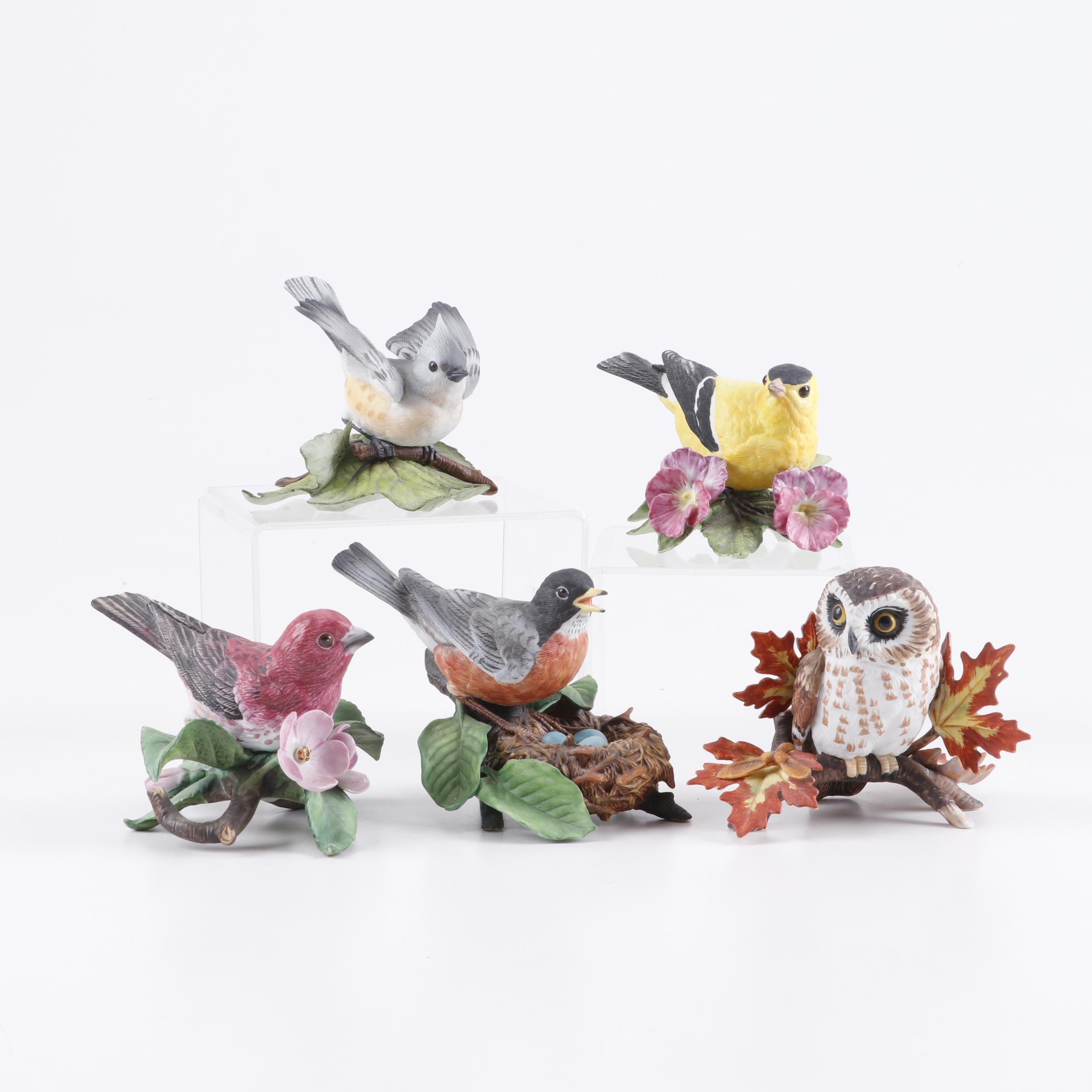 "Lenox Porcelain ""Garden Bird Collection"" Figurines"