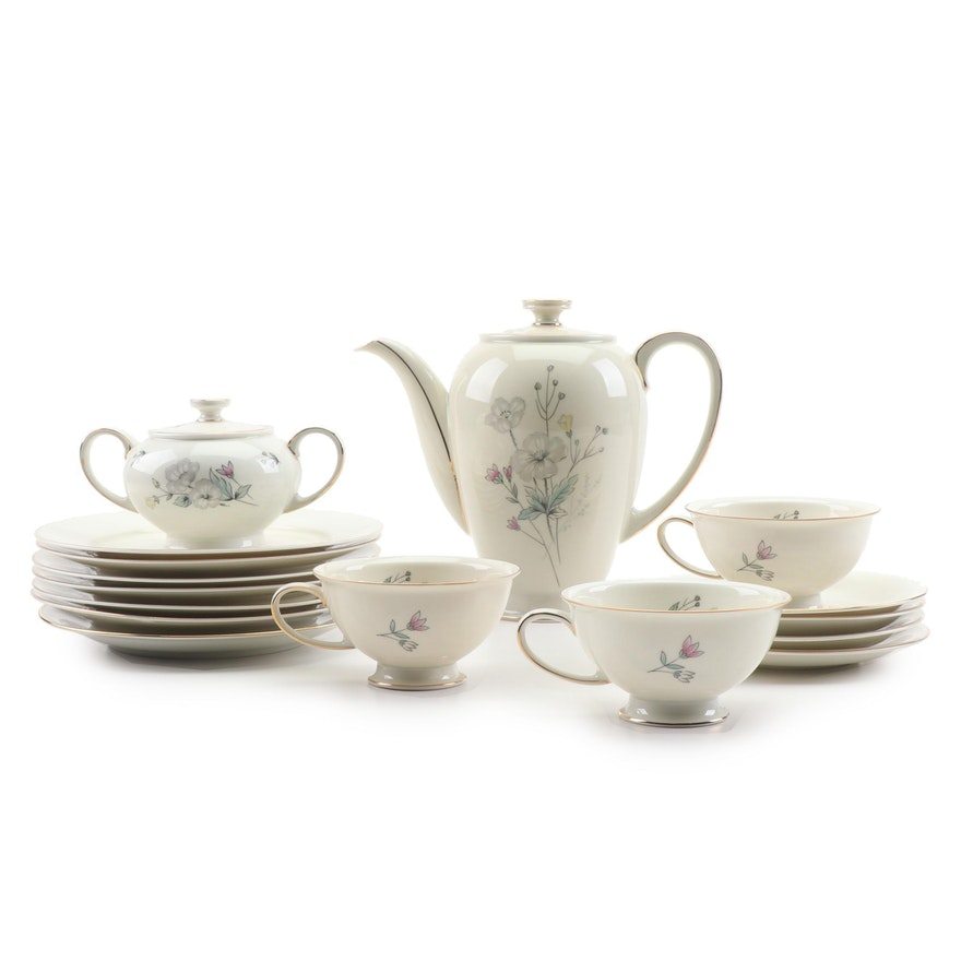 "Rosenthal ""Winifred"" Ceramic Tea Service and Salad Plates"