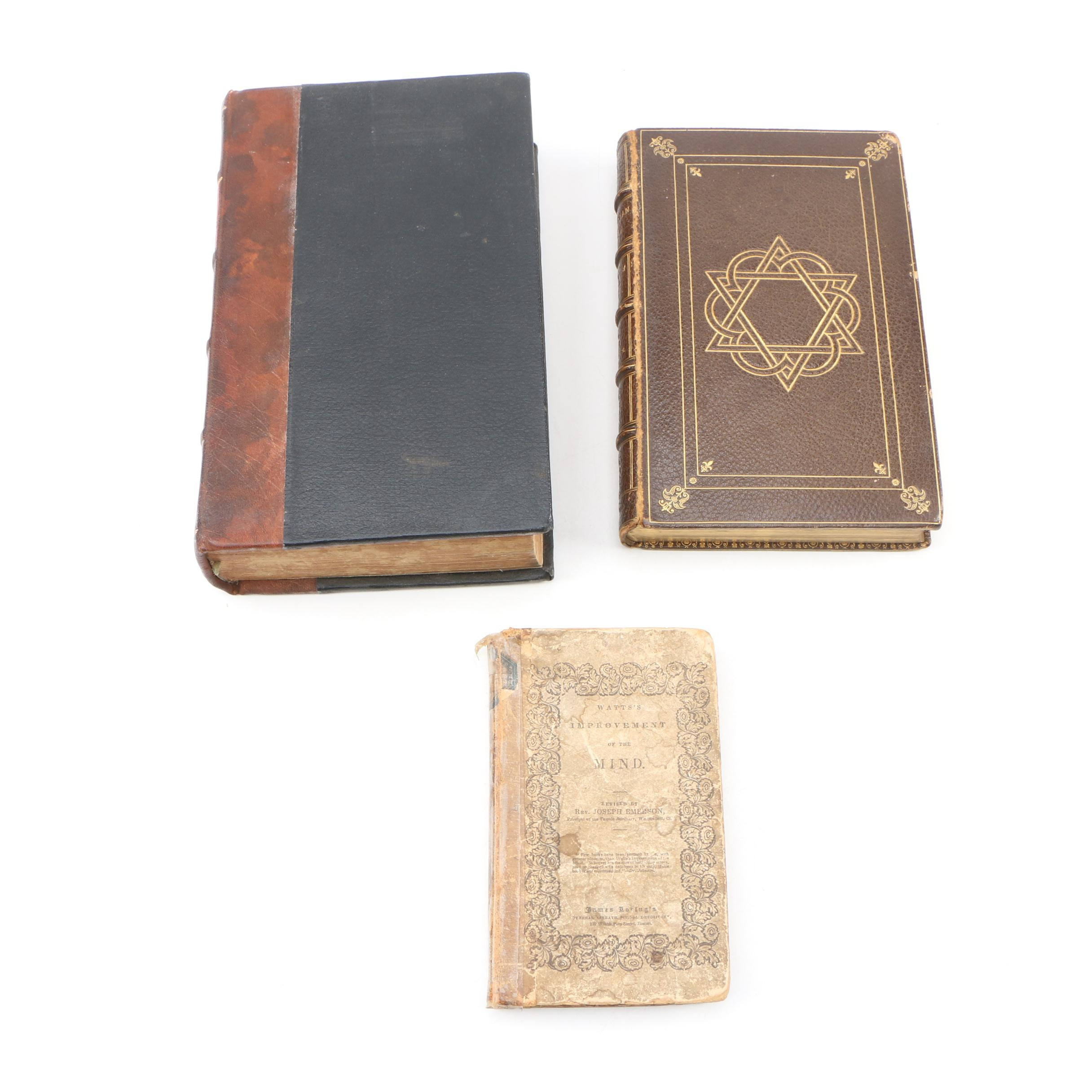 """Religious Texts and Poetry including """"Elegant Epistles"""" by Vicesimus Knox, 1809"""