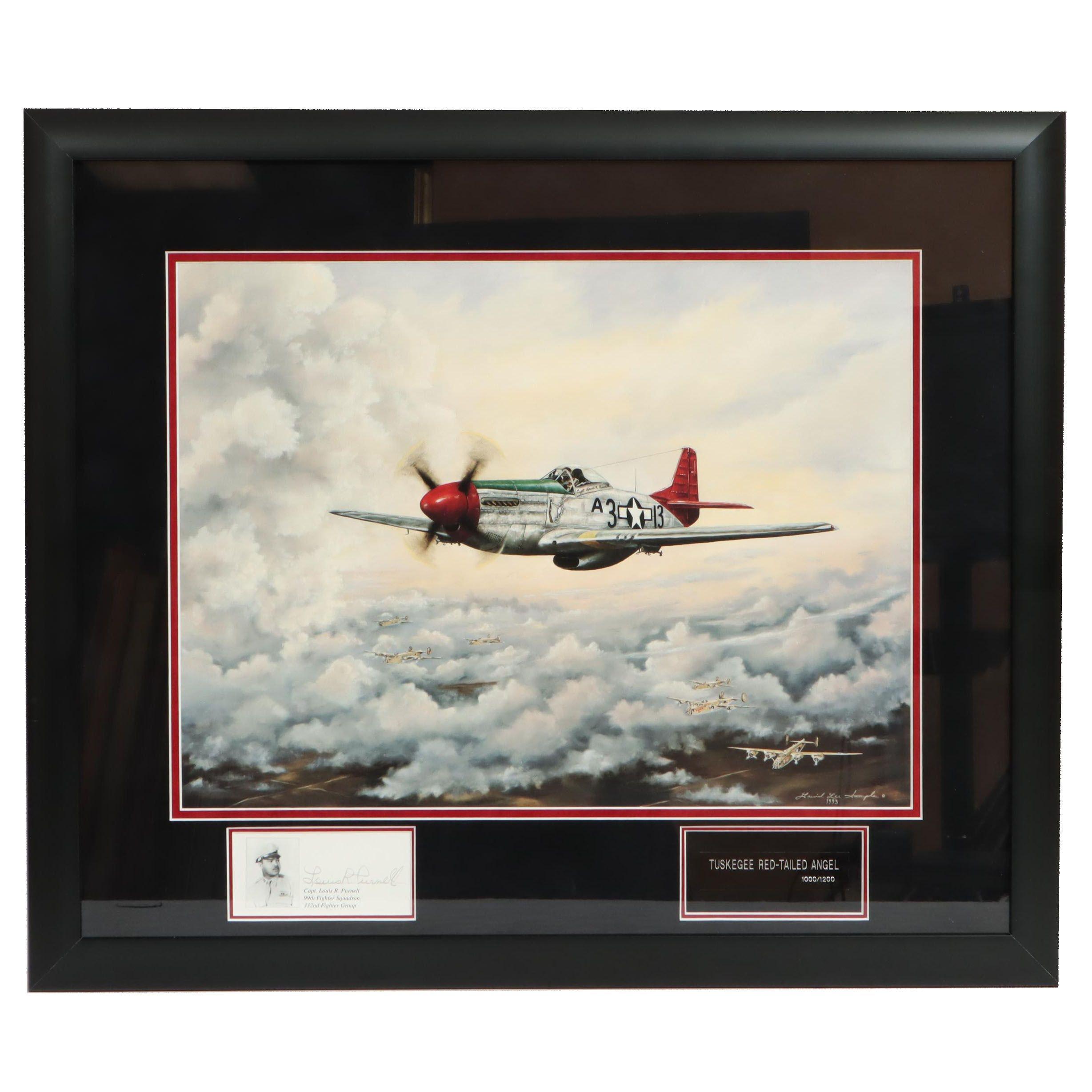 "David Lee Sample Giclee ""Red Tailed Angel"" Tuskegee Airmen"