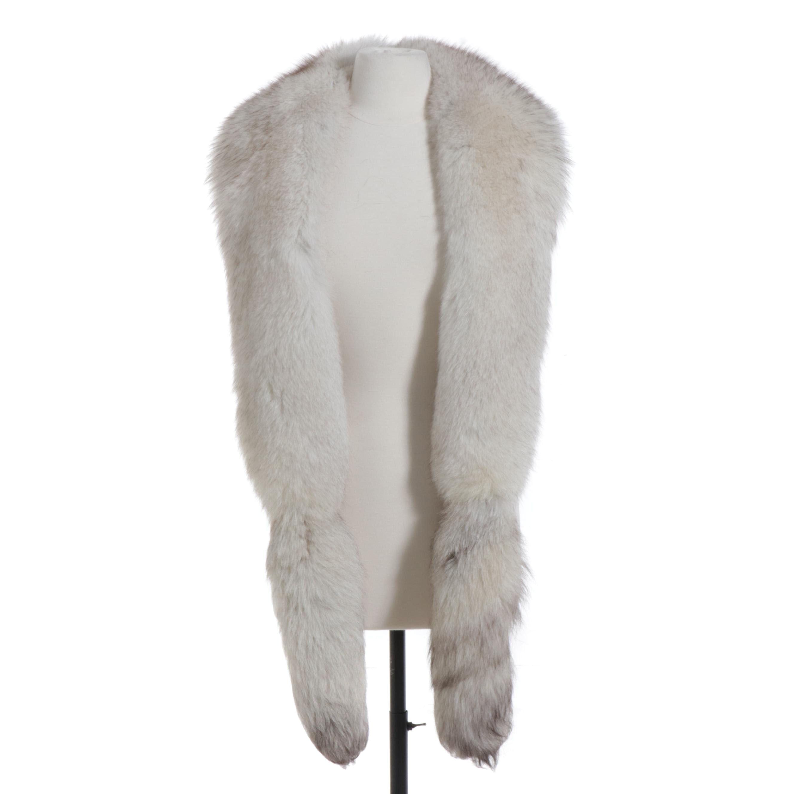 Blue Fox Fur Wrap