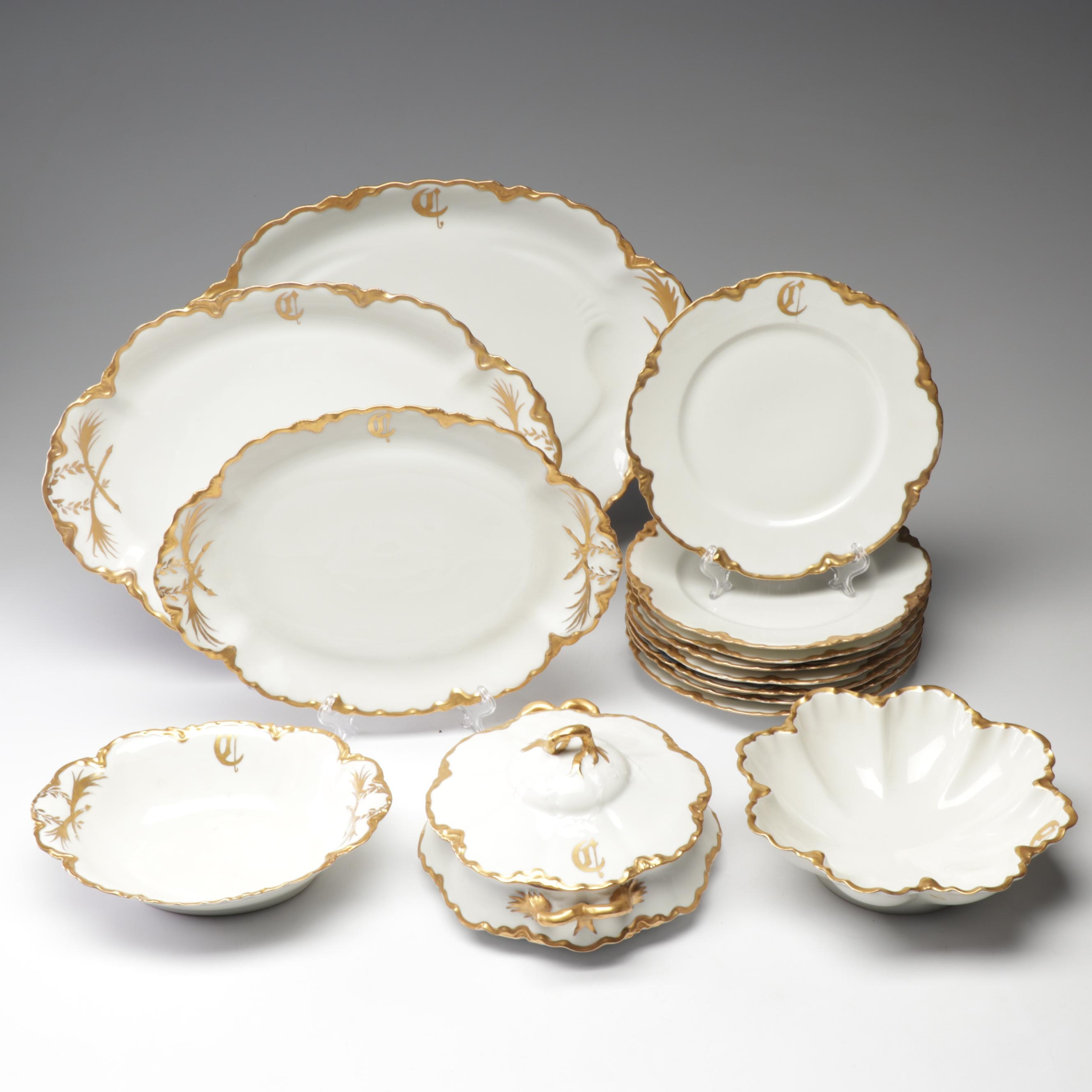 "Haviland ""Schleiger"" Porcelain Tableware, Late 19th - Early 20th Century"